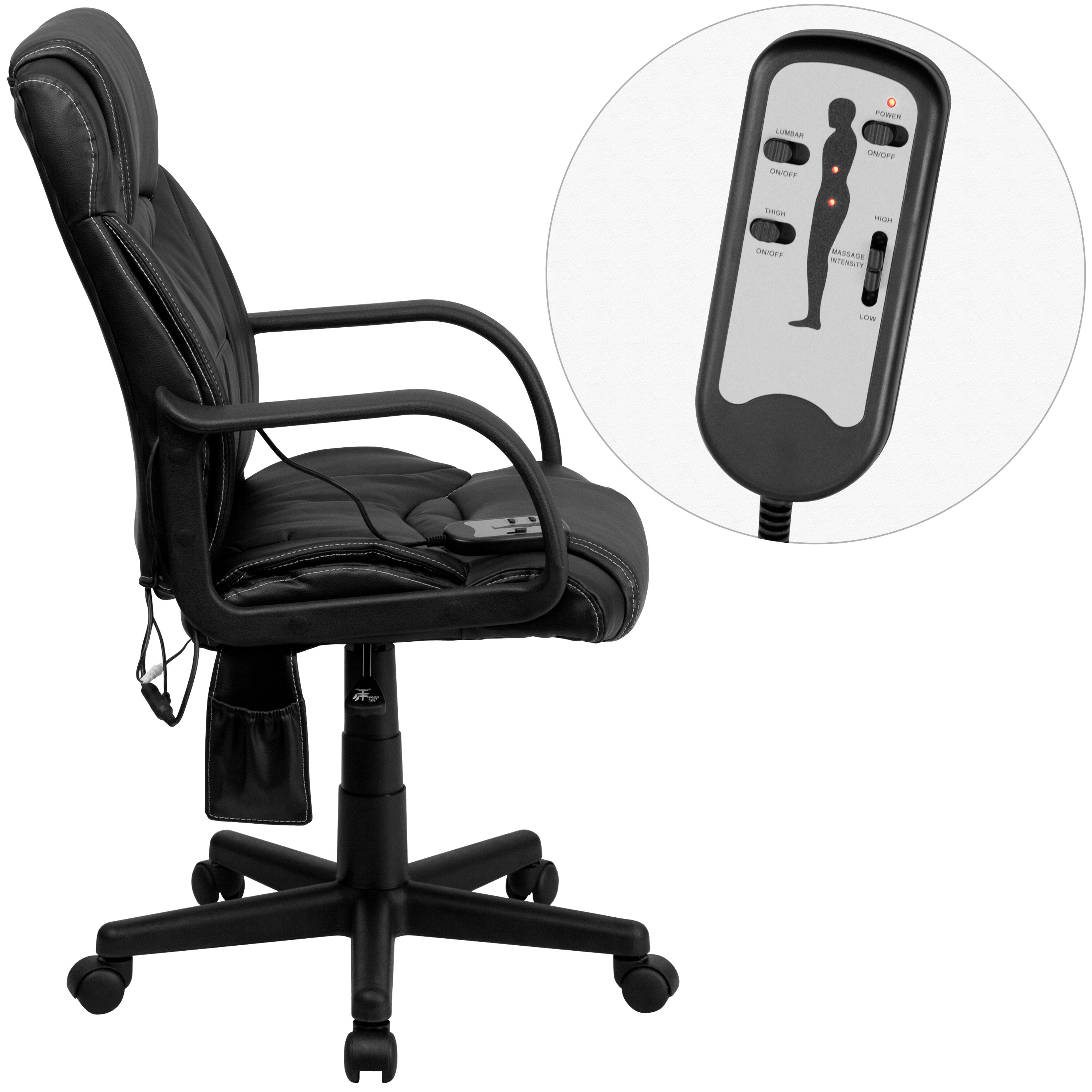 Flash Furniture High Back Leather Executive Swivel