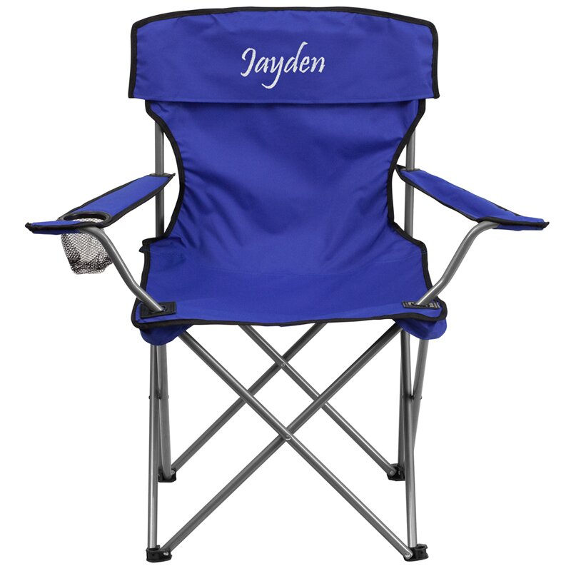 flash furniture embroidered folding cing chair