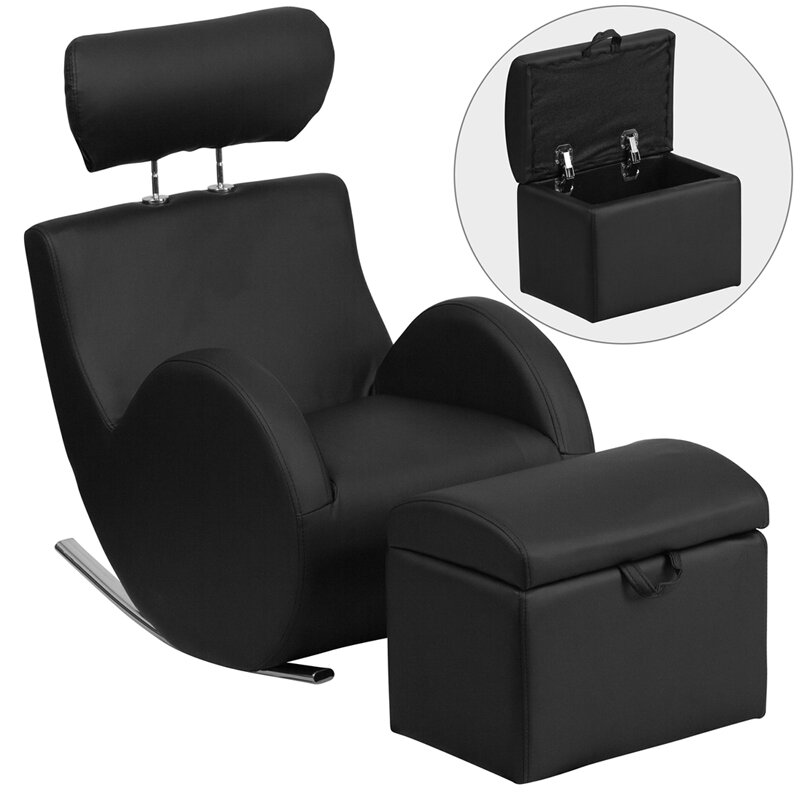 Flash Furniture Hercules Series Rocking Chair and Ottoman
