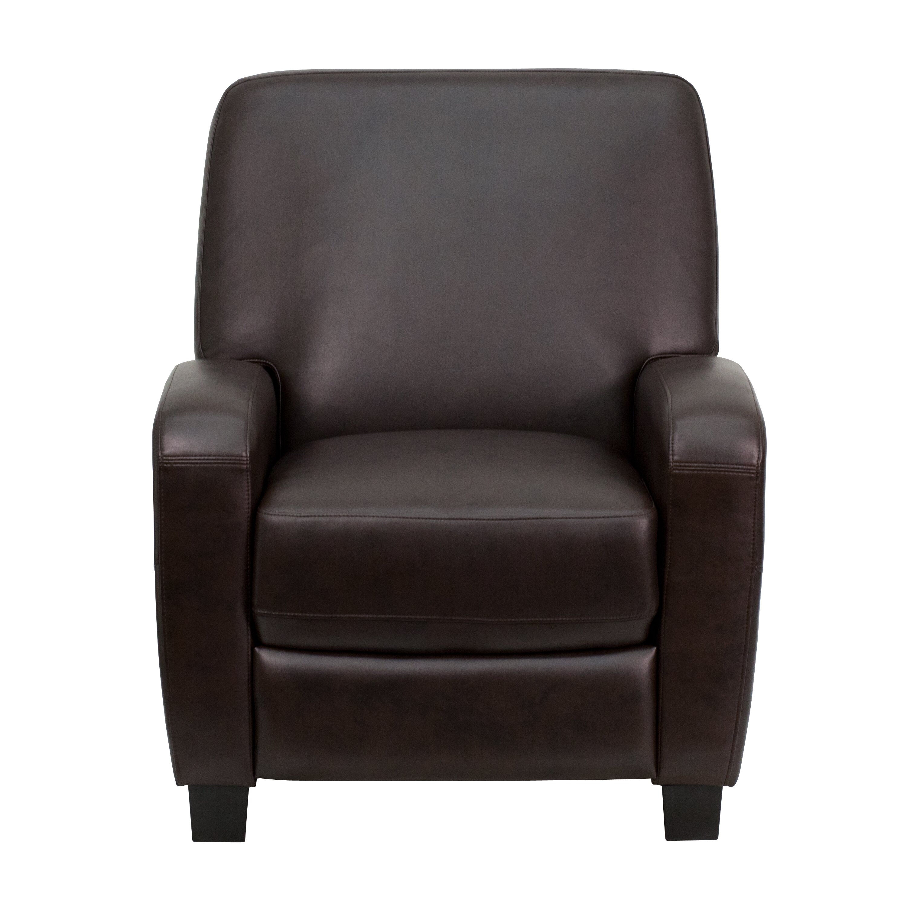 Flash Furniture Brown Push Back Office Recliner