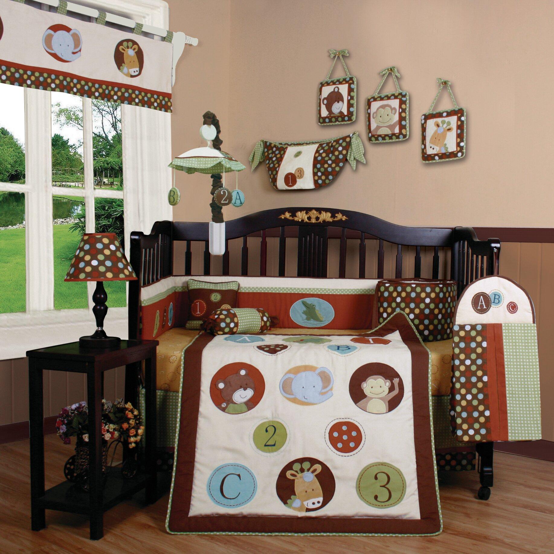 Geenny Boutique Animal Scholar 13 Piece Crib Bedding Set ...