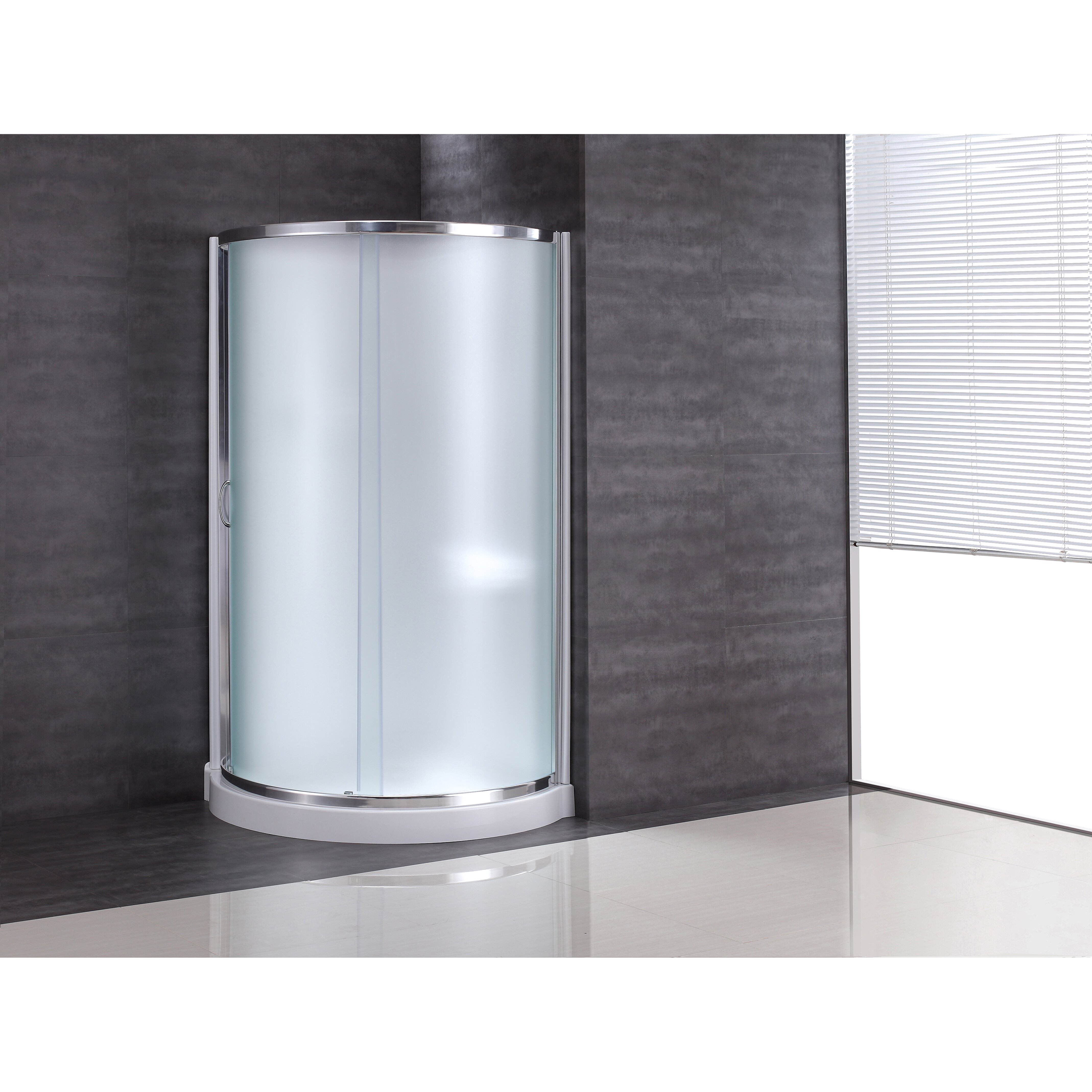 Breeze 31 Quot X 31 Quot X 76 Quot Neo Angle Frosted Glass Kit With