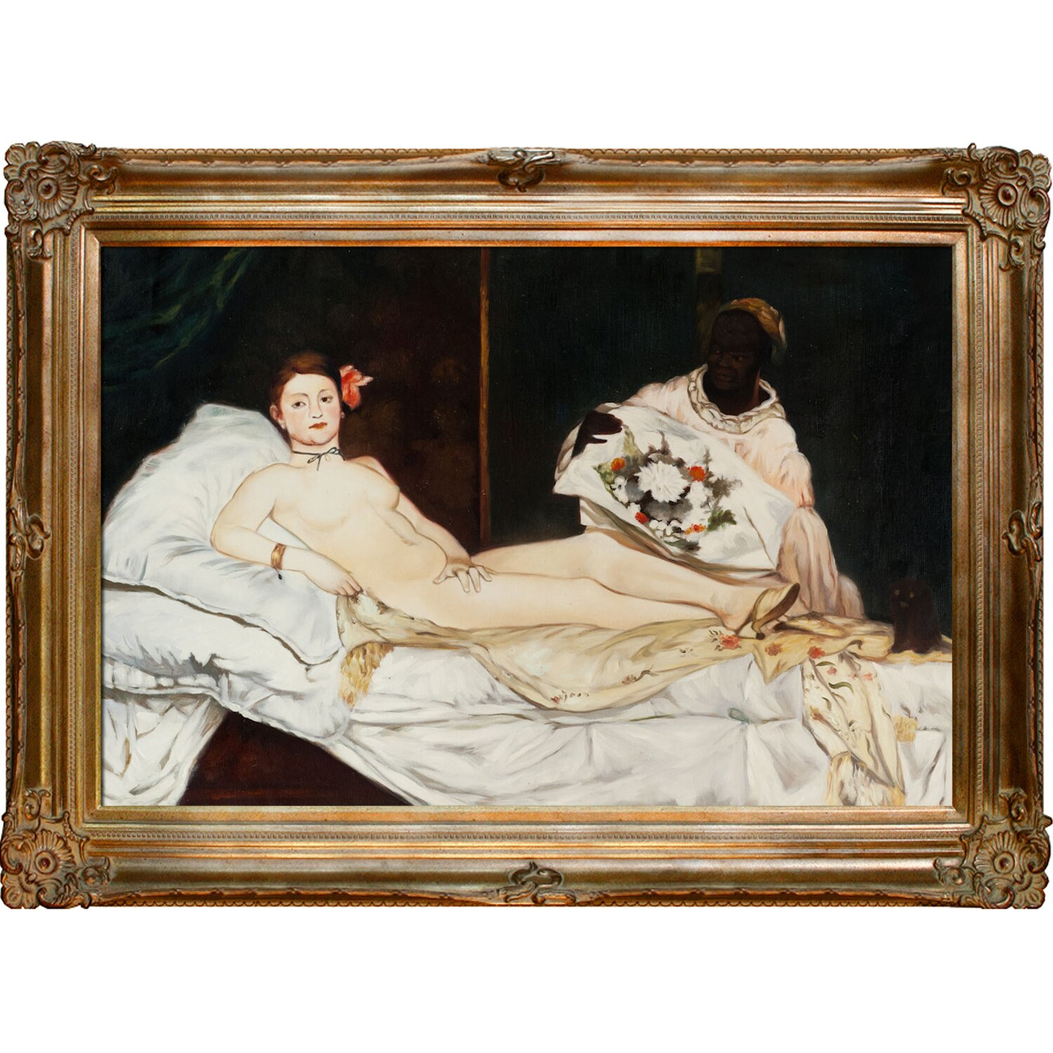Olympia By Edouard Manet Framed Painting Print Wayfair
