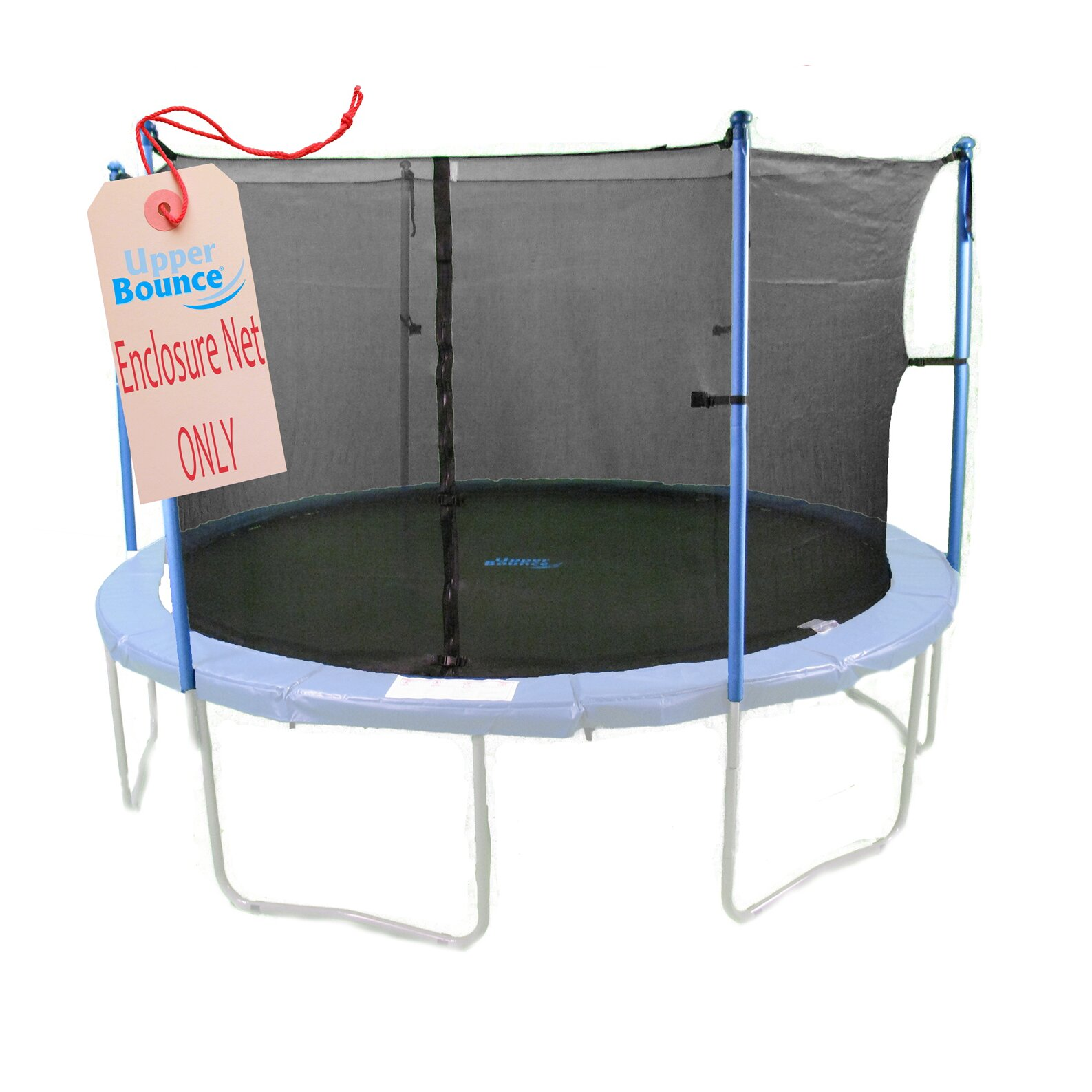 Propel 14 Trampoline With Fun Ring Enclosure: Upper Bounce 14' Round Trampoline Net Using 4 Poles Or 2