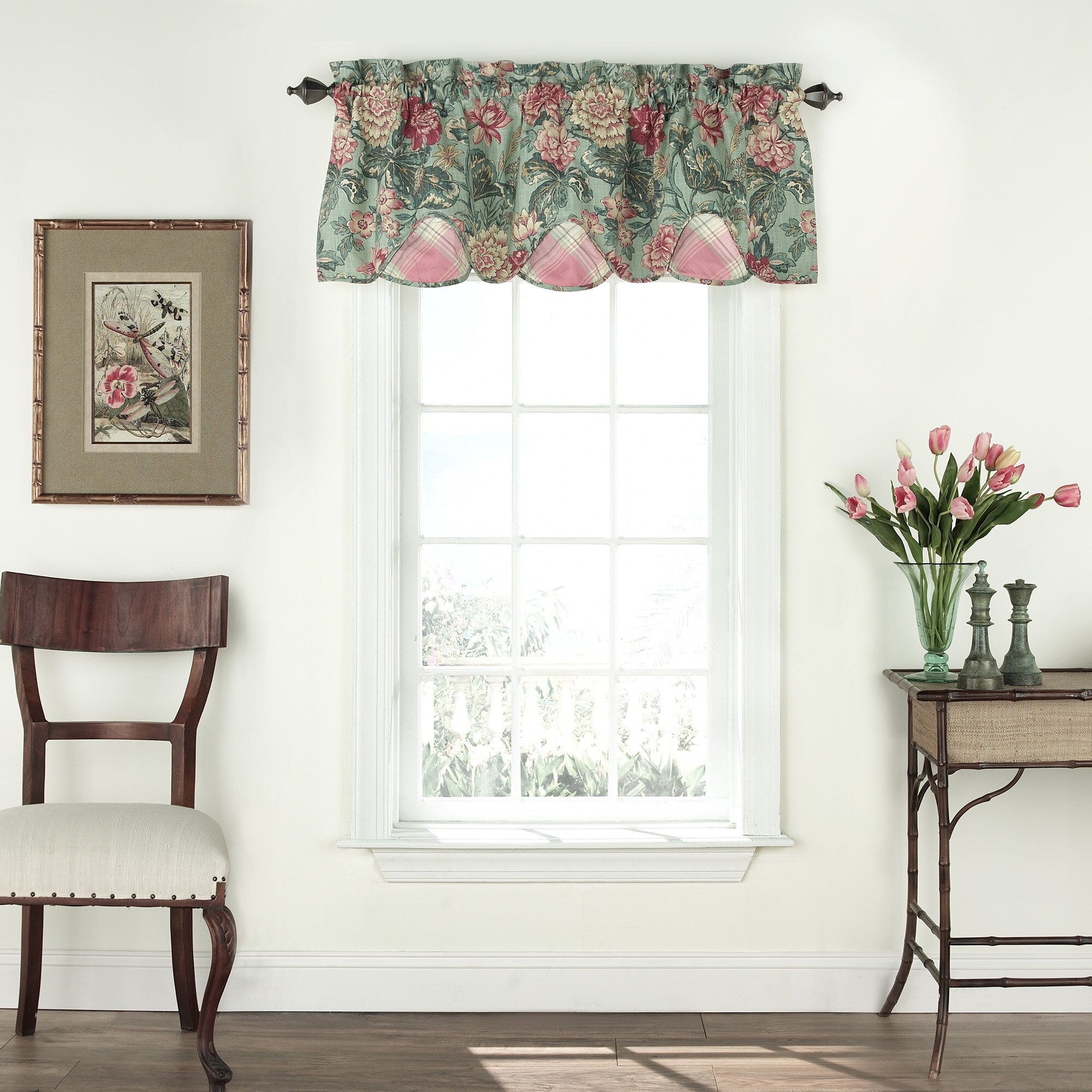 Waverly Sonnet Sublime Scalloped Floral Valance & Reviews