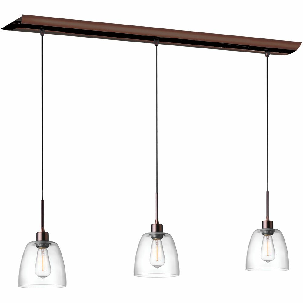 Kitchen Island Pendant Lighting: Dainolite Nostalgia 3 Light Kitchen Island Pendant