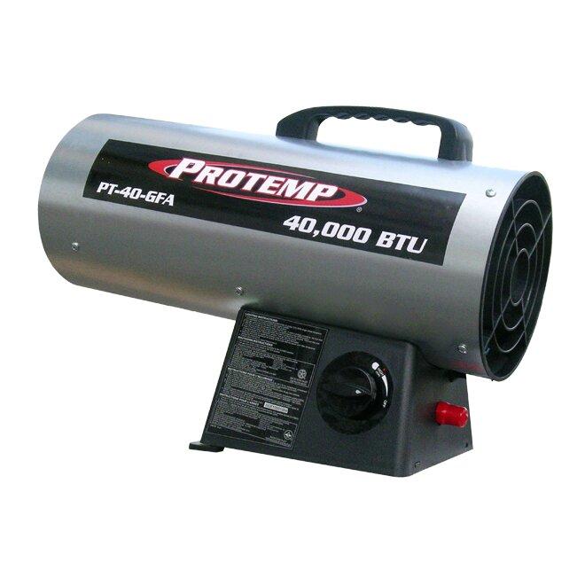 Protemp 40 000 Btu Portable Propane Forced Air Utility