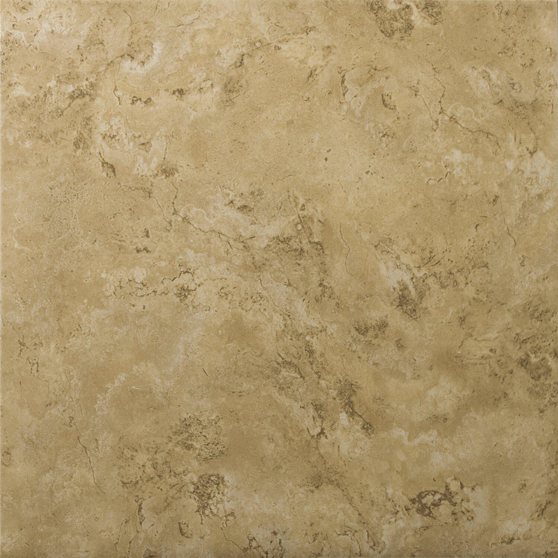 Emser tile cordova 13 x 13 ceramic field tile in noce for 13x13 ceramic floor tiles