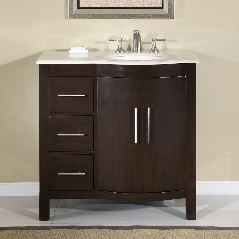 Silkroad Exclusive Kimberly 36 Single Bathroom Vanity Set Reviews Wayfair Supply
