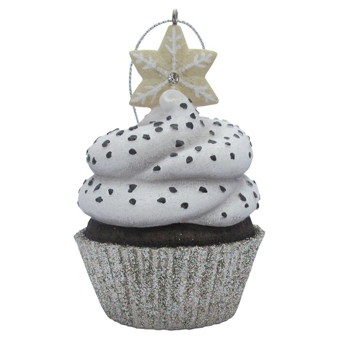 Snowflake Top Cupcake Christmas Ornament
