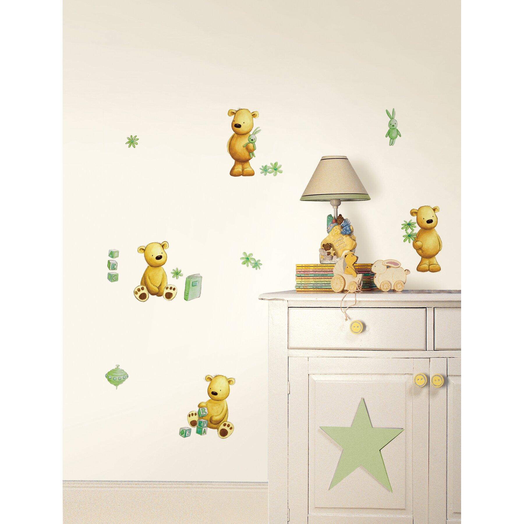 fun4walls teddy bear wall decal wayfair masha and the bear wall sticker childrens bedroom wall decal