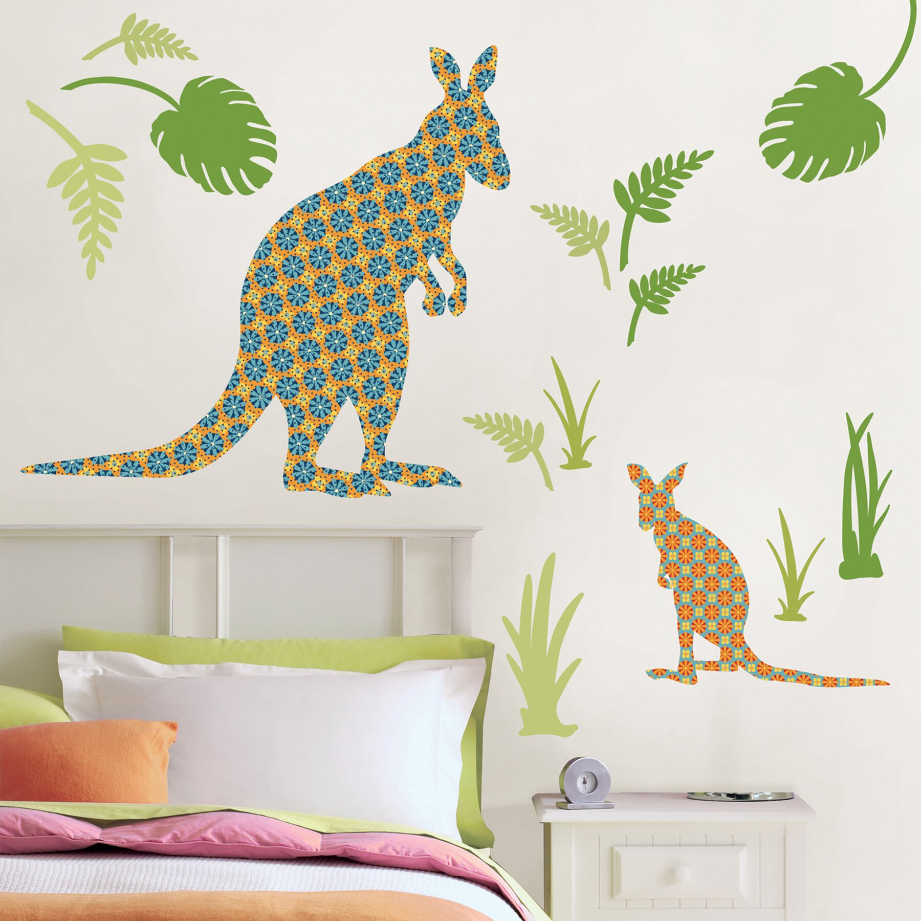 Joey the kangaroo wall decal wayfair for Kangaroo outdoor furniture covers