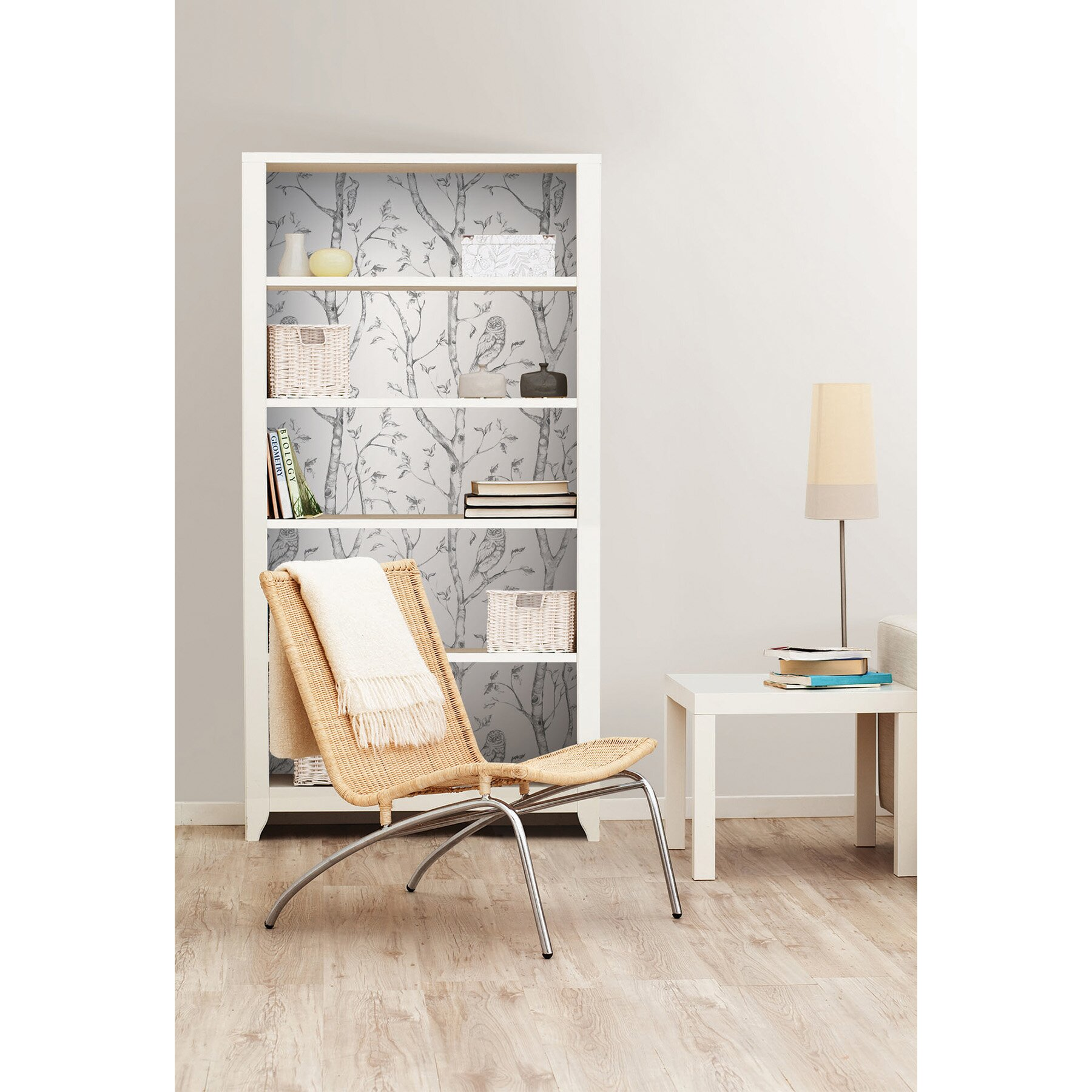 WallPops! Gray Woods Peel And Stick Wallpaper & Reviews ...