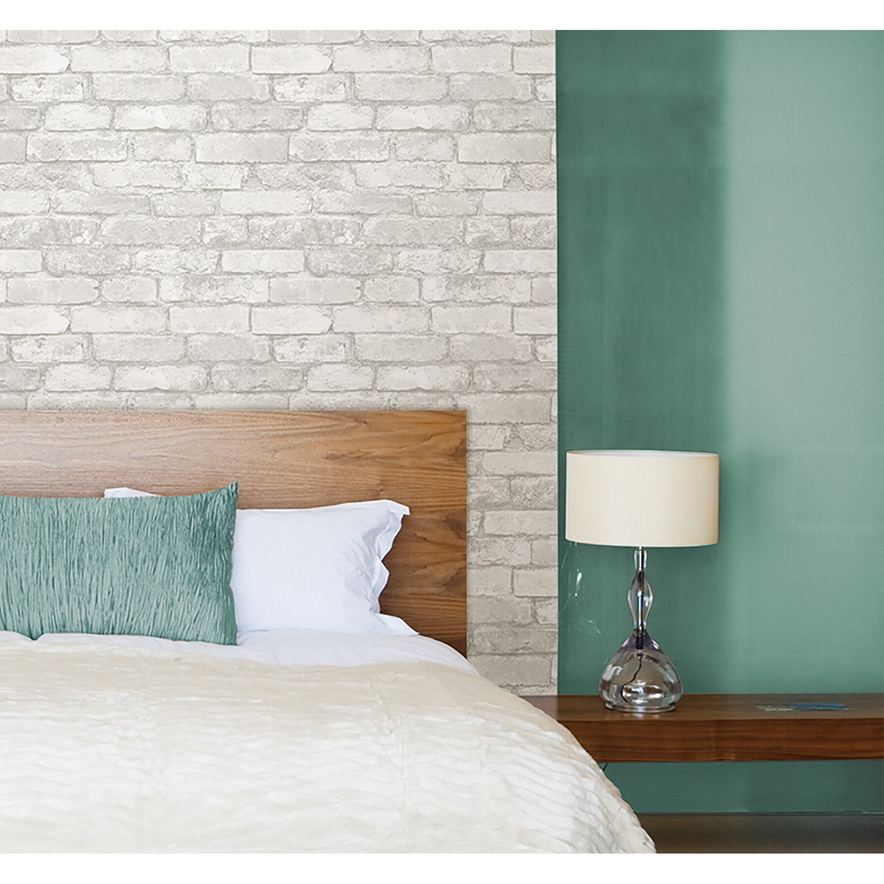 Wallpops grey and white brick peel and stick wallpaper - Best peel and stick wallpaper ...