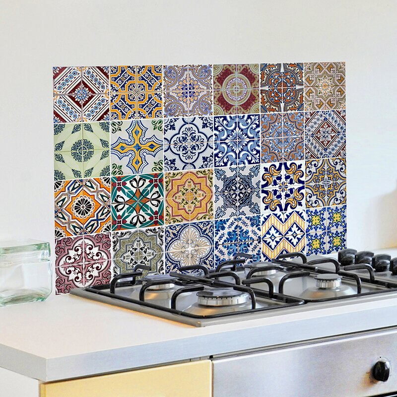 WallPops! Azulejos Kitchen Wall Decal & Reviews | Wayfair