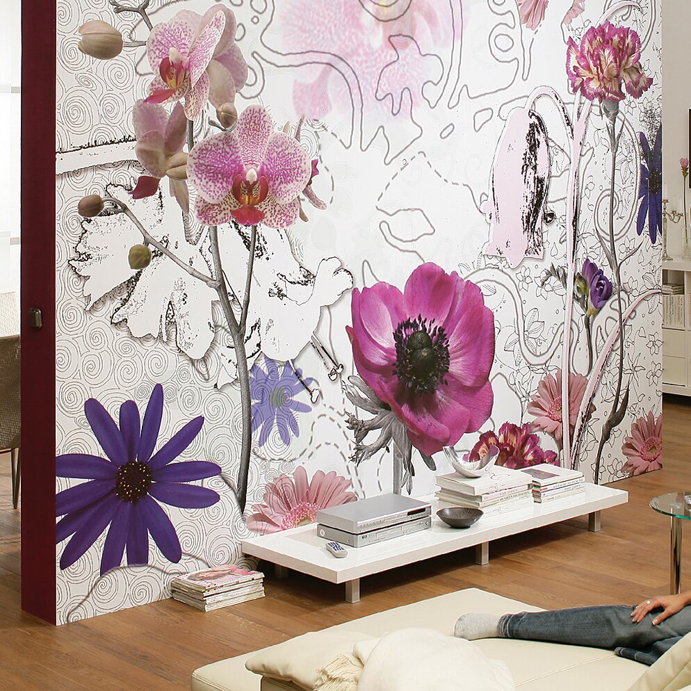 Komar purple wall mural wayfair for Brewster home fashions komar wall mural