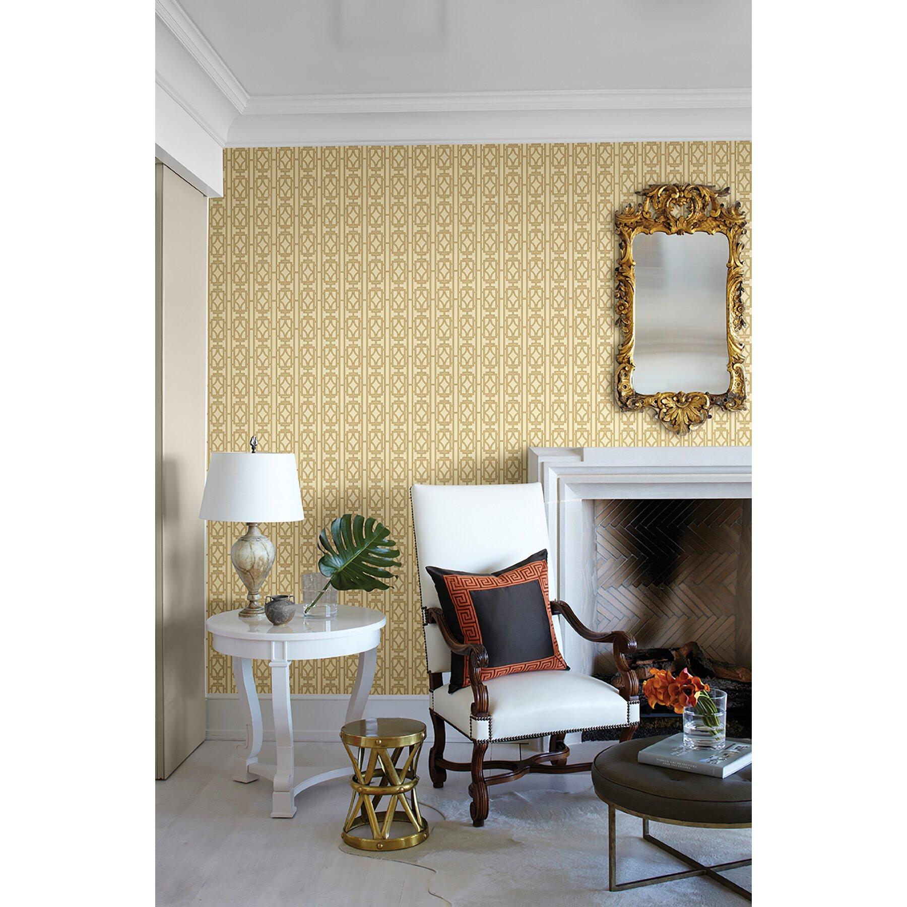 """Lattice Wallpaper: Empress Empire Lattice 33' X 20.5"""" Trellis Wallpaper"""