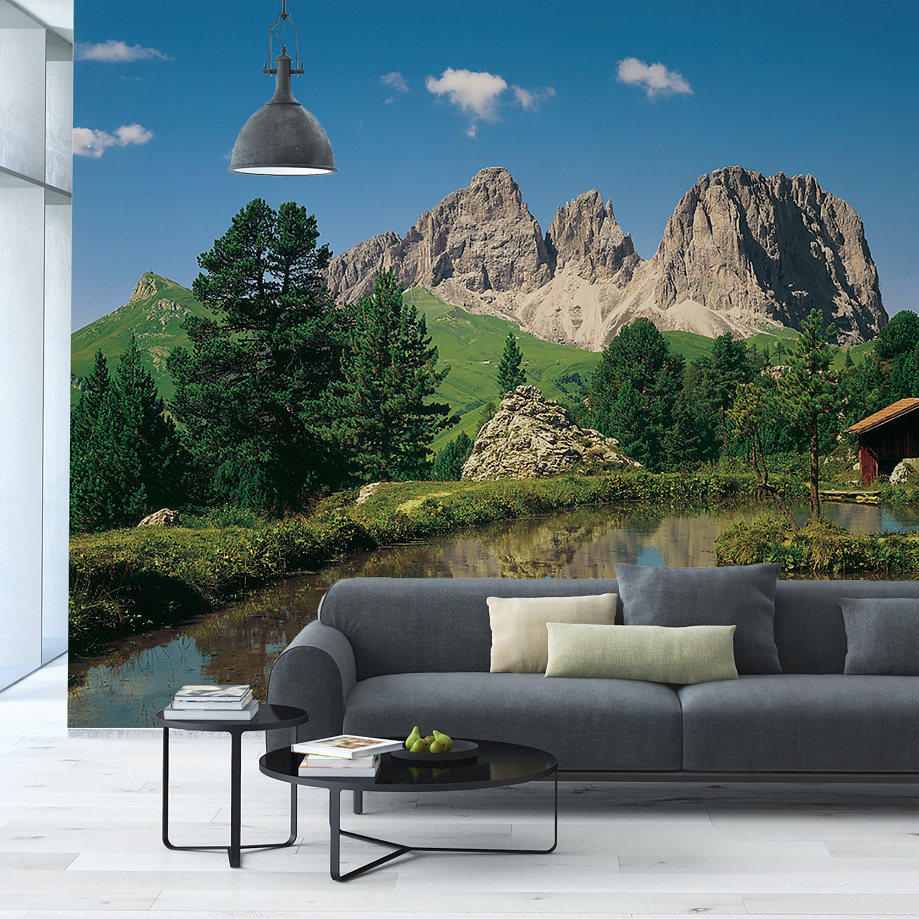 Komar dolomiten wall mural wayfair for Brewster birch wall mural