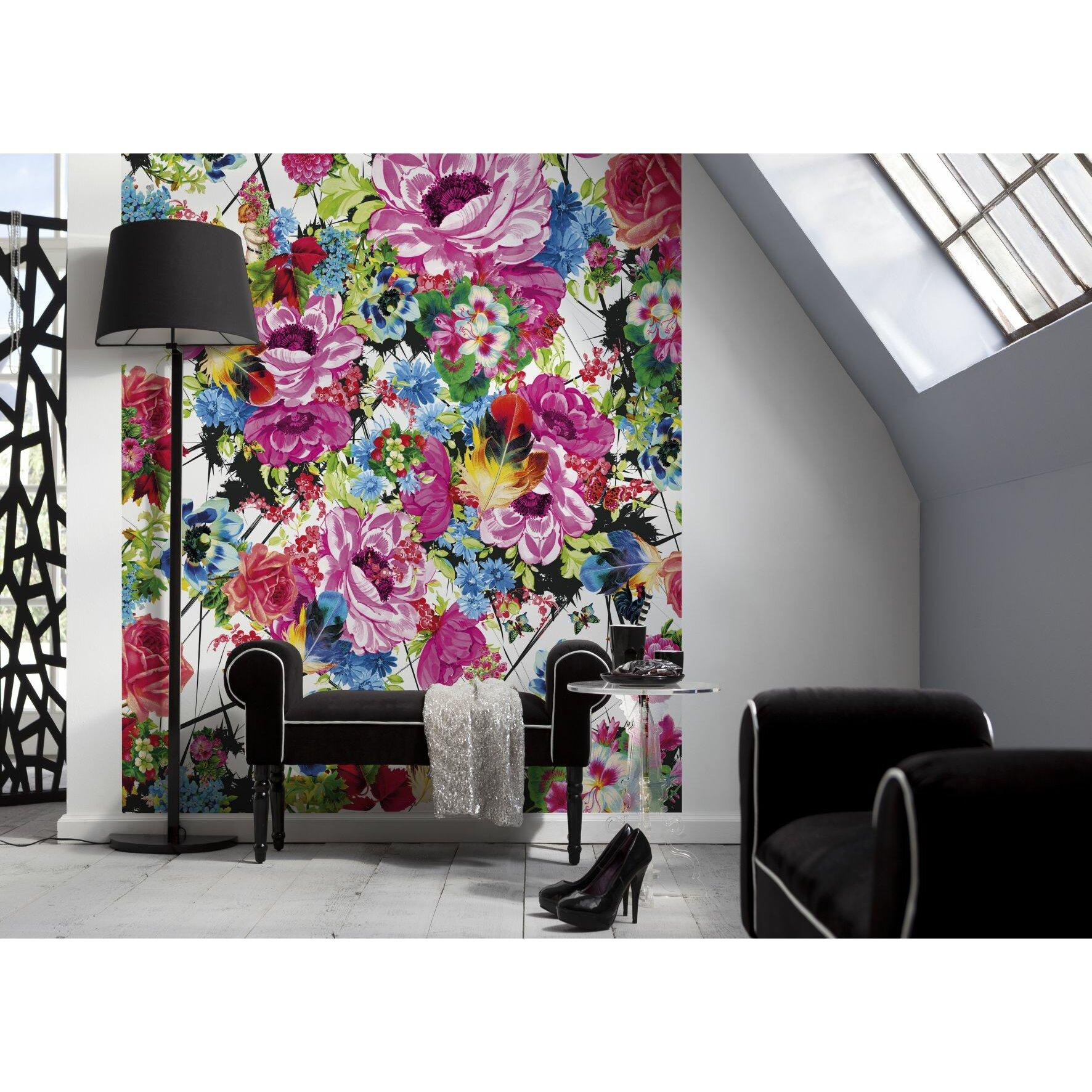 brewster home fashions komar romantic pop wall mural brewster home fashions ideal decor awakening wall mural