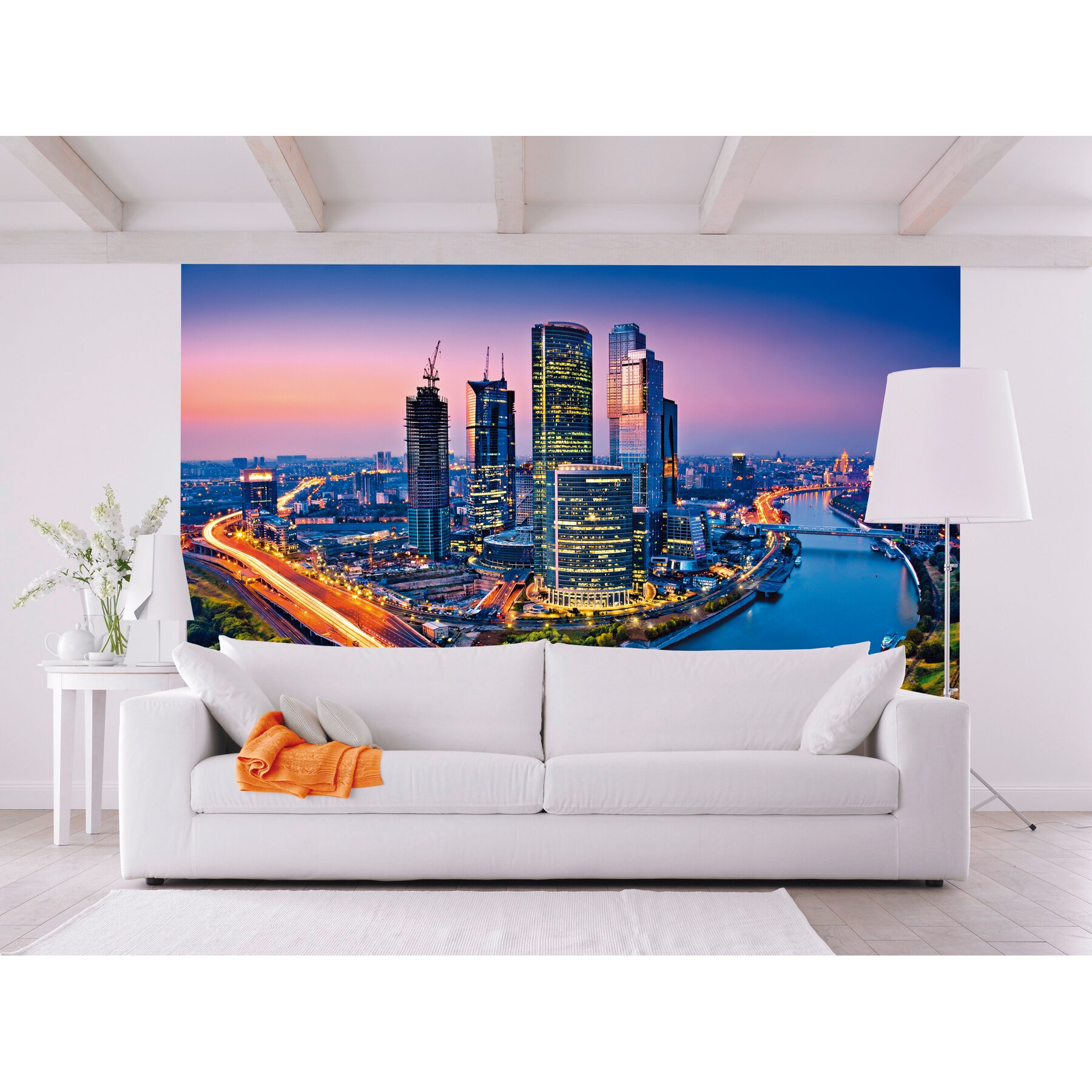 Ideal decor moscow twilight wall mural wayfair for Brewster wall mural