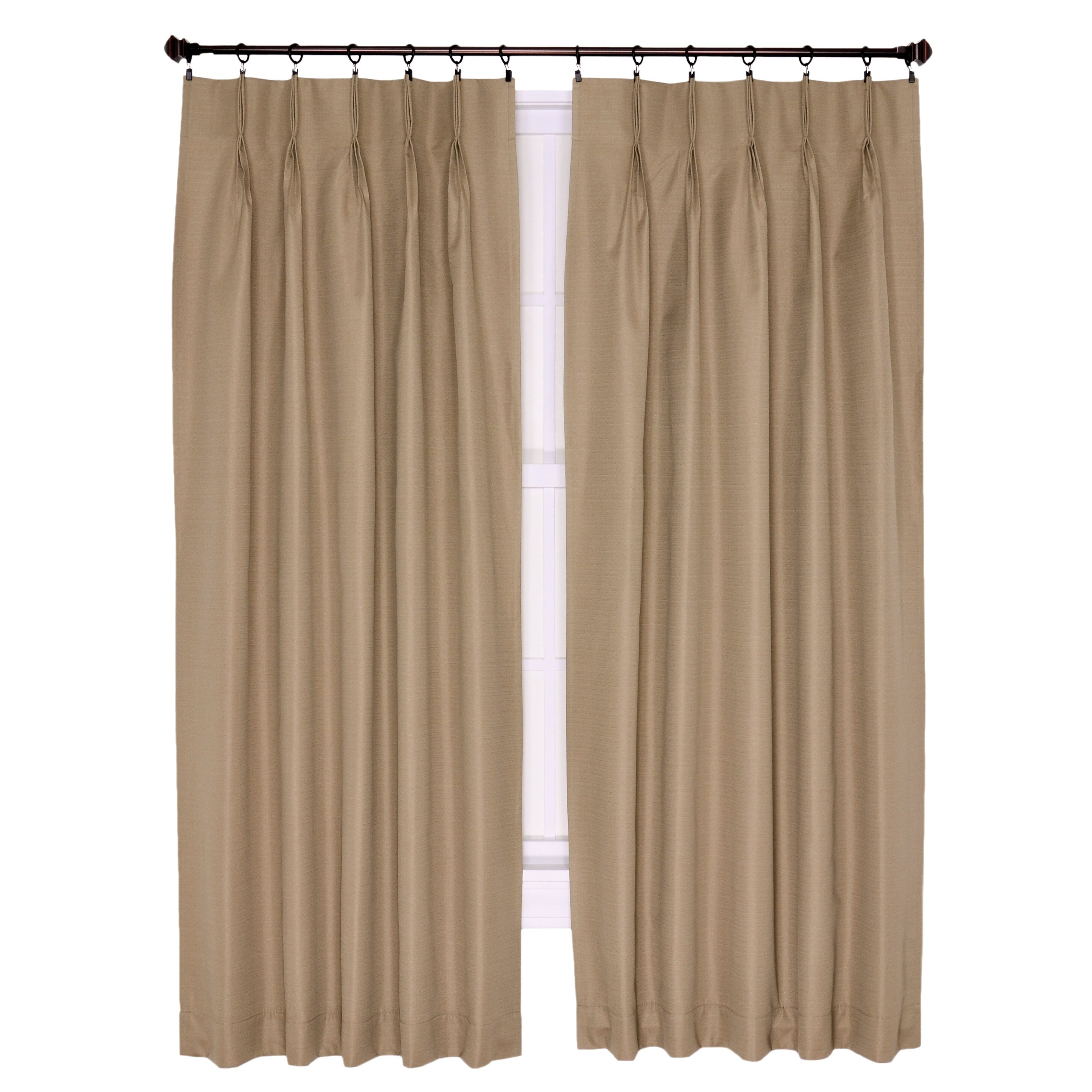 Pinch Pleated Thermal Insulated Drapes: Ellis Curtain Crosby Insulated Pinch Pleated Foamback