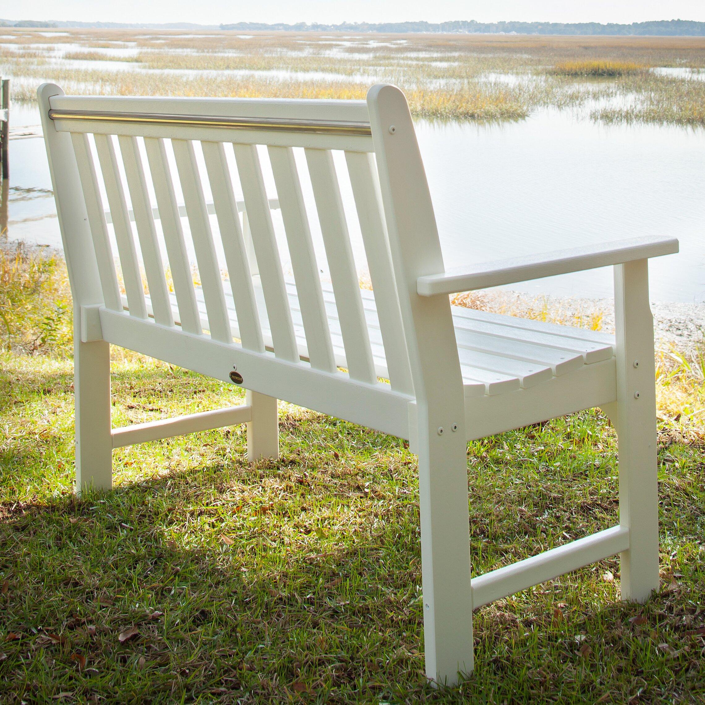 Polywood Vineyard Plastic Garden Bench Reviews Wayfair