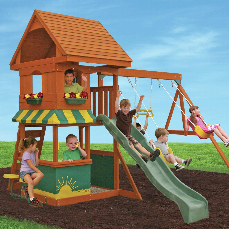 Backyard Swings: Big Backyard Magnolia Wooden Swing Set & Reviews