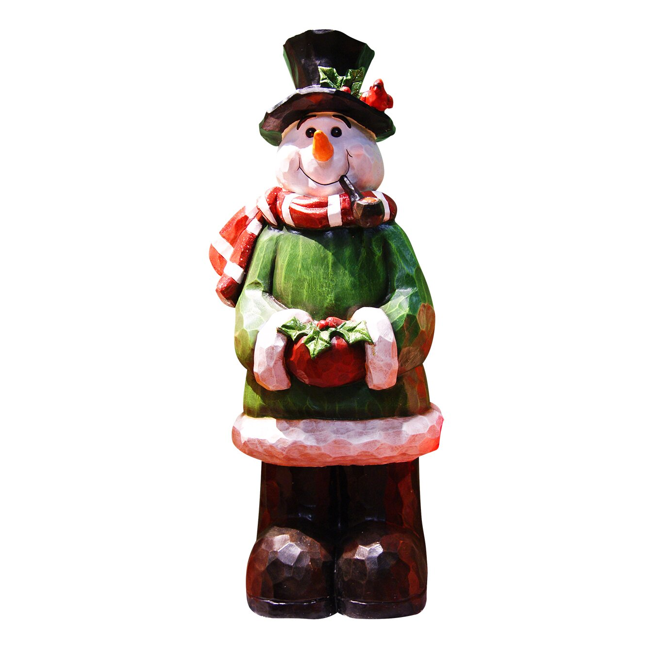 Christmas Statue Decorations: Alpine Snowman Garden Statue Christmas Decoration