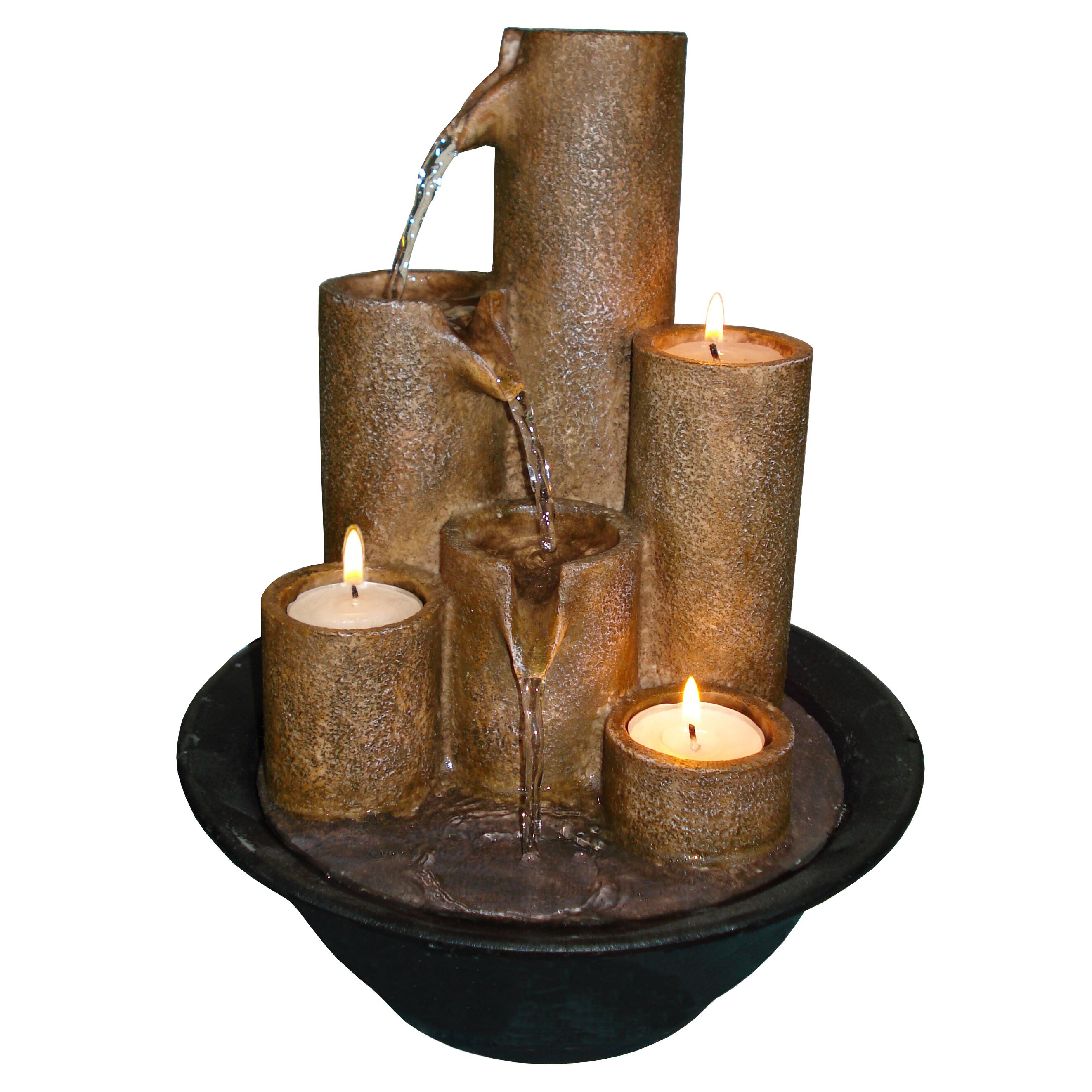 Alpine Eternity Three Candle Tabletop Fountain Amp Reviews