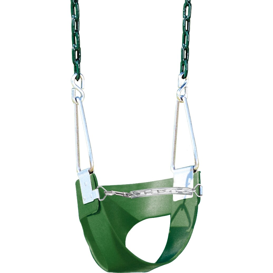 Creative playthings belted toddler swing with chain for Unique swings for kids