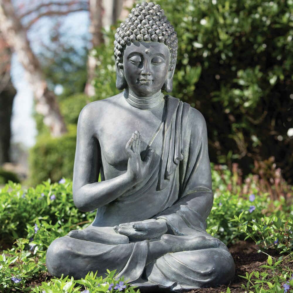 alfresco home thai buddha garden statue reviews wayfair. Black Bedroom Furniture Sets. Home Design Ideas
