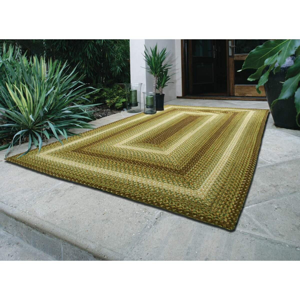 Country Walk Green Indoor Outdoor Rug