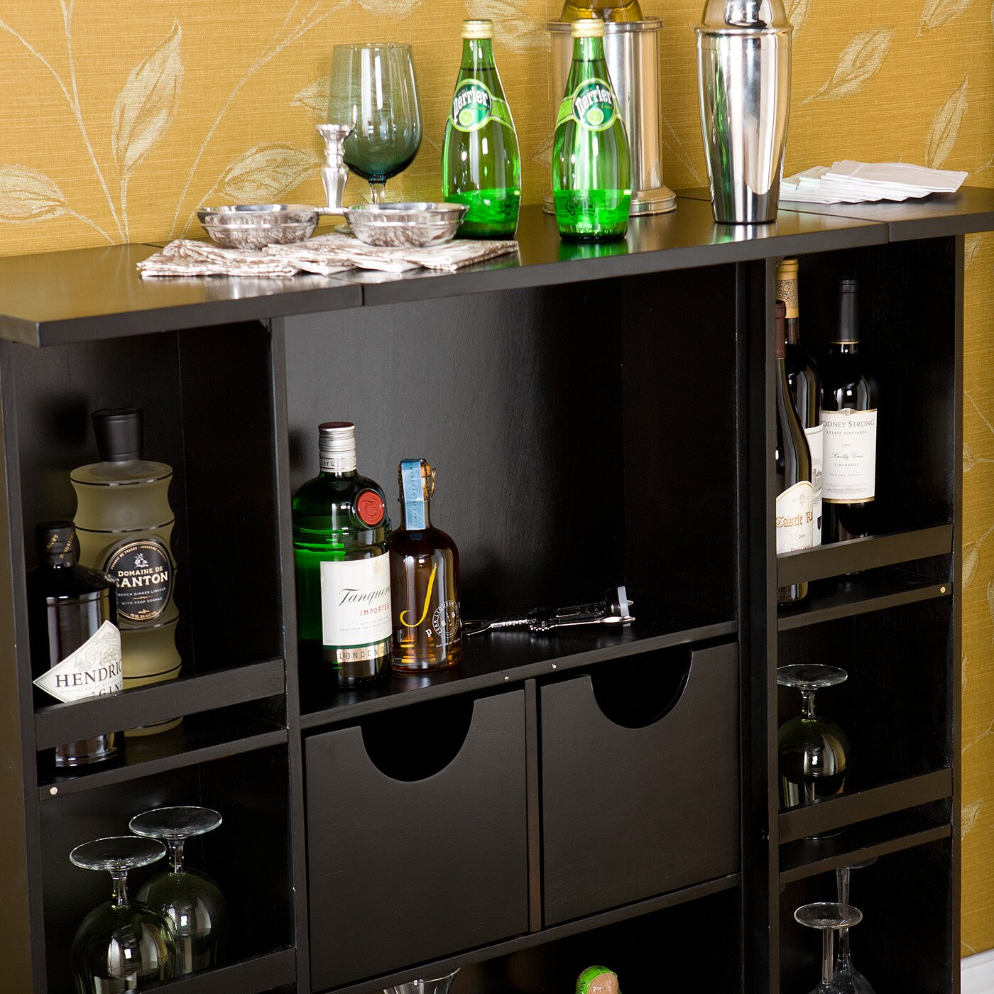Wildon Home Boswell Bar Cabinet With Wine Storage Reviews Wayfair