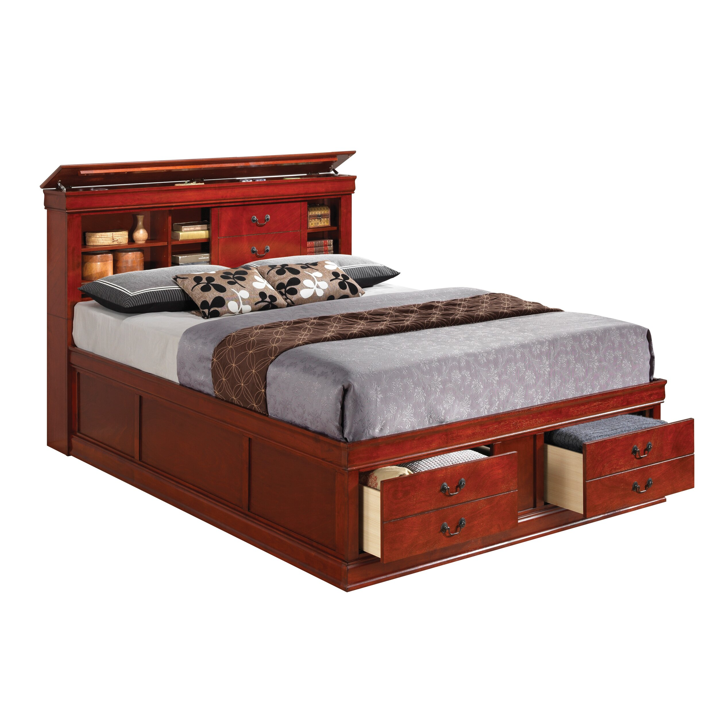 Wildon Home ® Louis Storage Platform Bed & Reviews | Wayfair