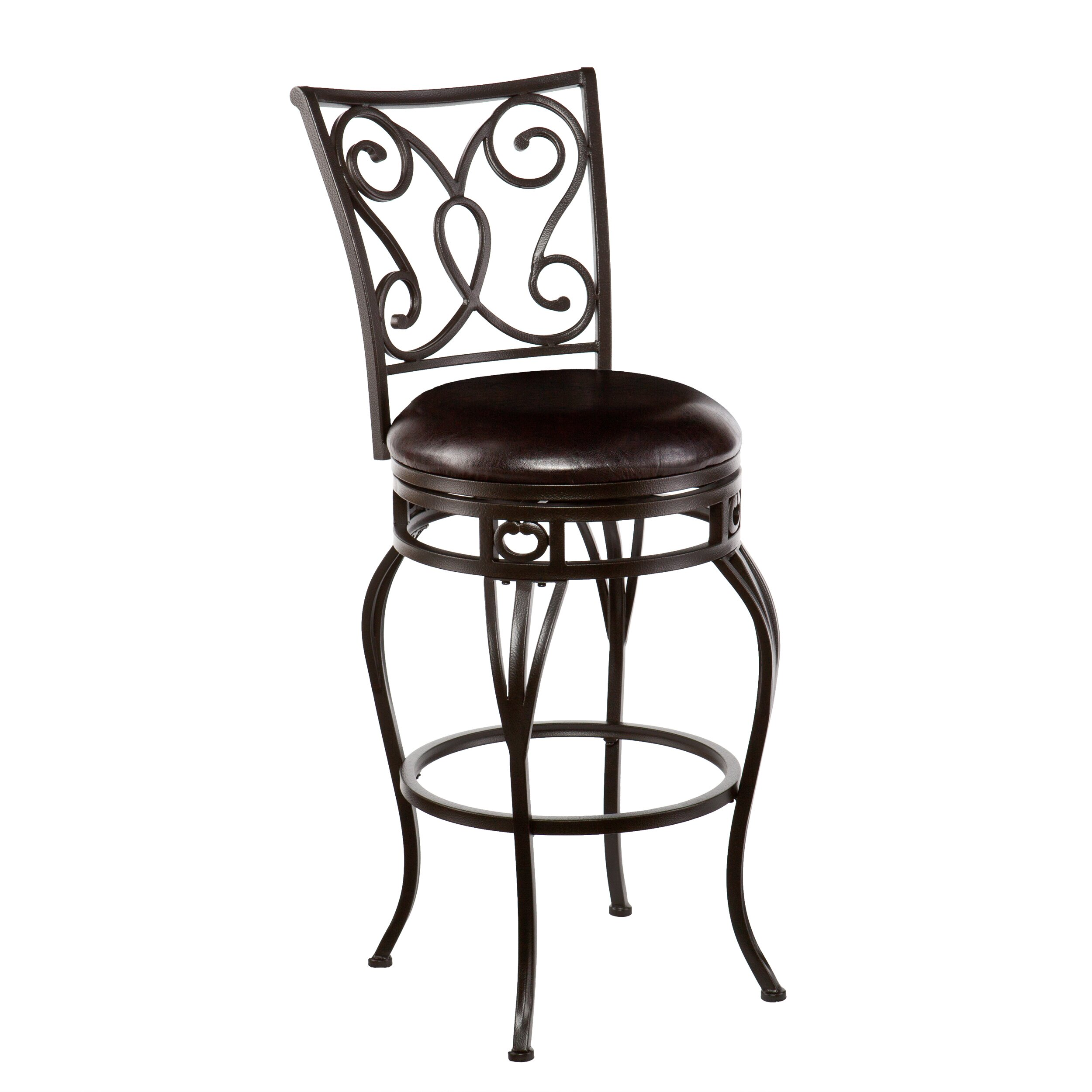 bradley swivel bar stool with cushion reviews wayfair