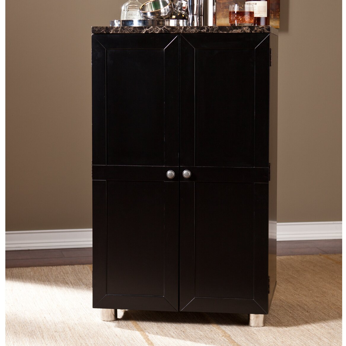 Home Depot Cabinets Review: Wildon Home ® Capri Bar Cabinet With Wine Storage