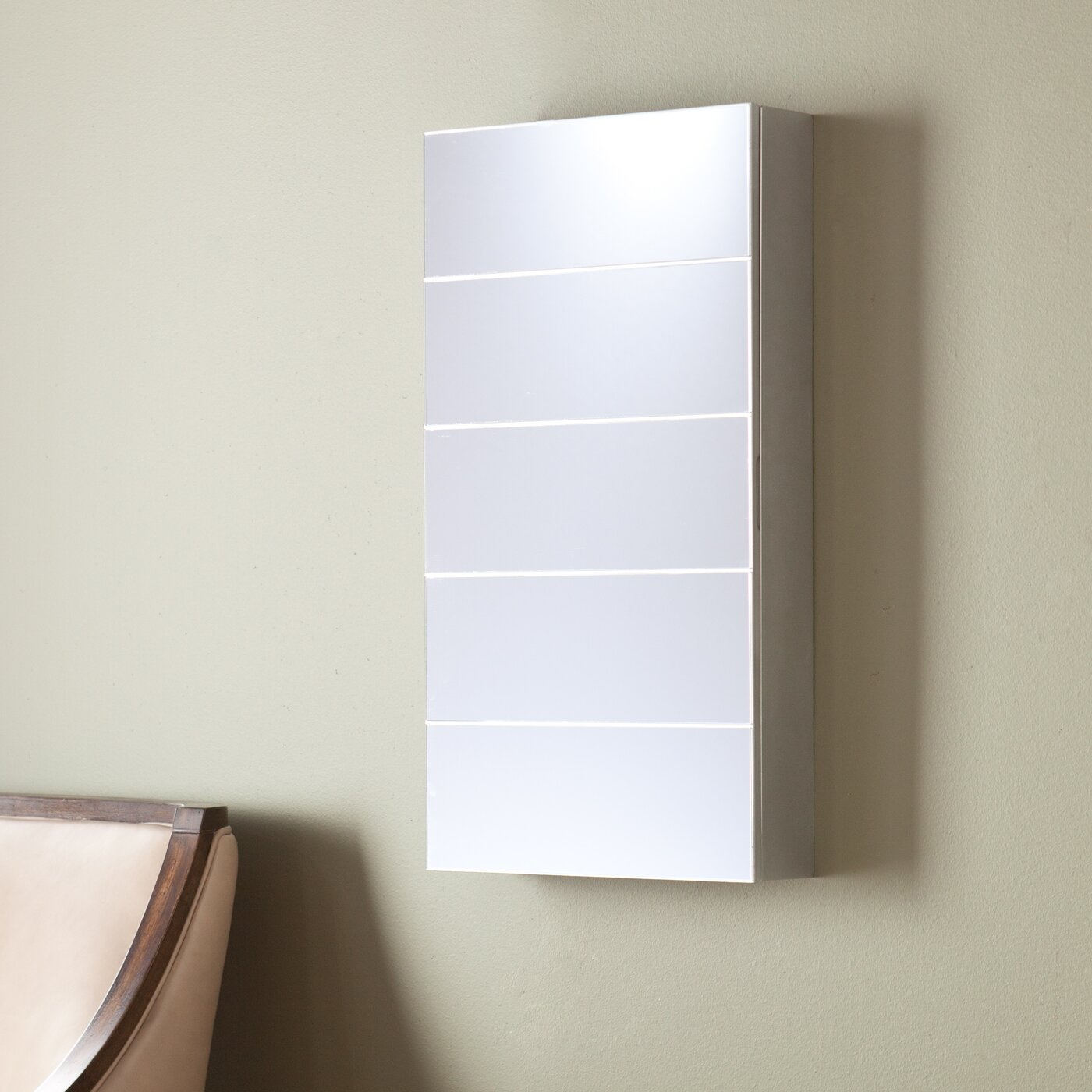Wall Mount Jewelry Armoire : Hurst Wall Mount Jewelry Armoire with Mirror by Wildon Home ®