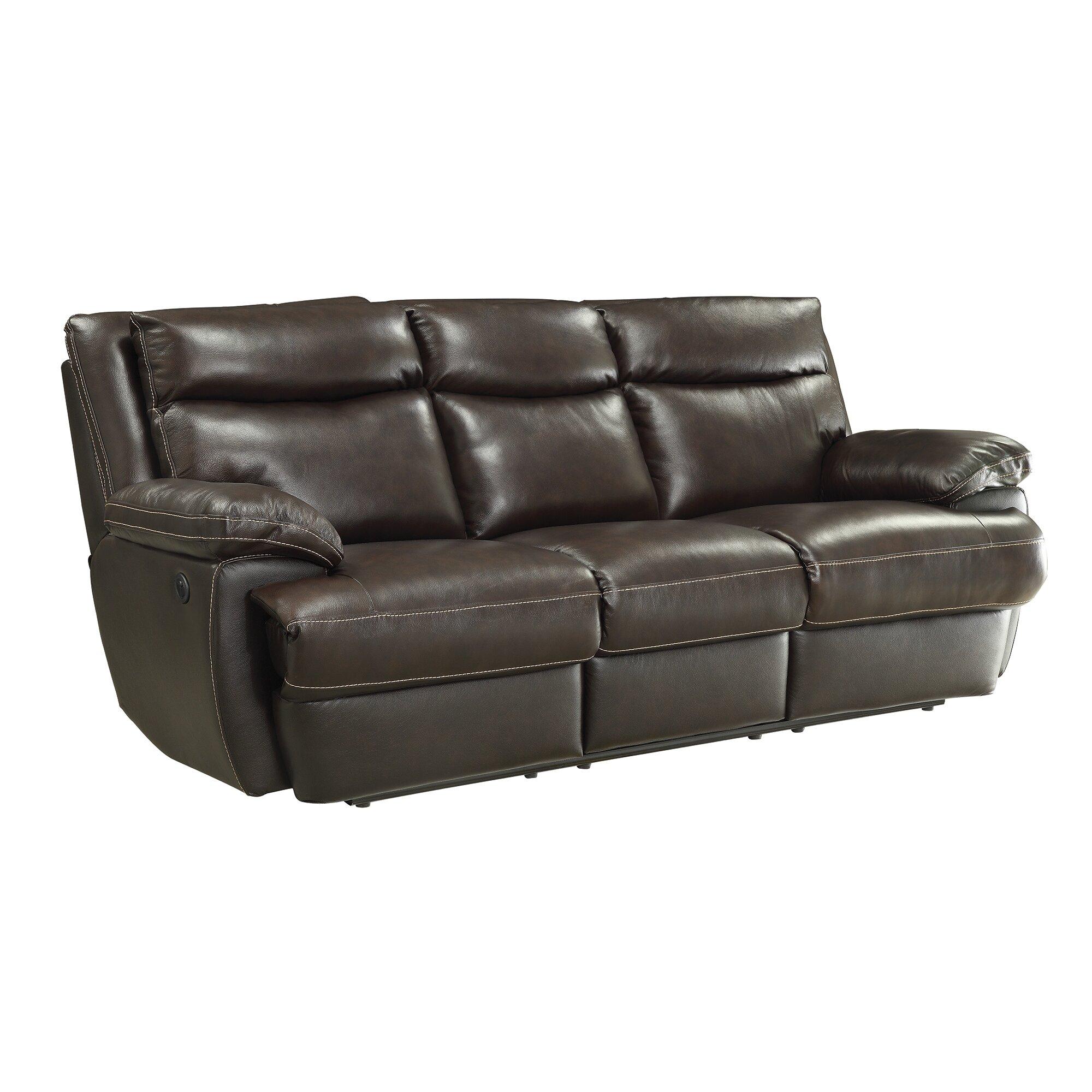 MacPherson Power Leather Reclining Sofa