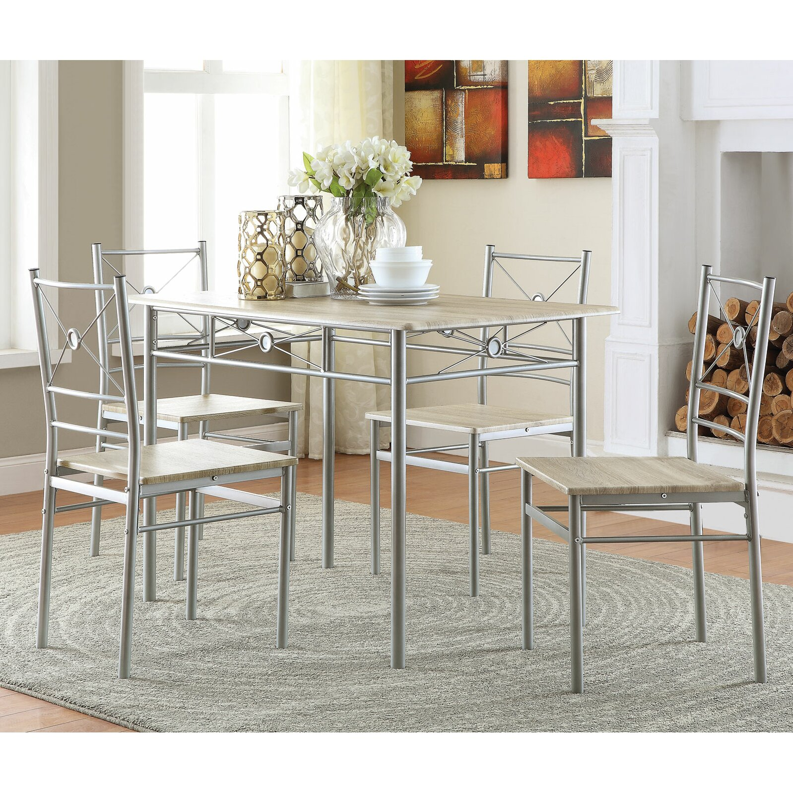 Cheap 5 Piece Dining Set: Wildon Home ® 5 Piece Dining Set & Reviews