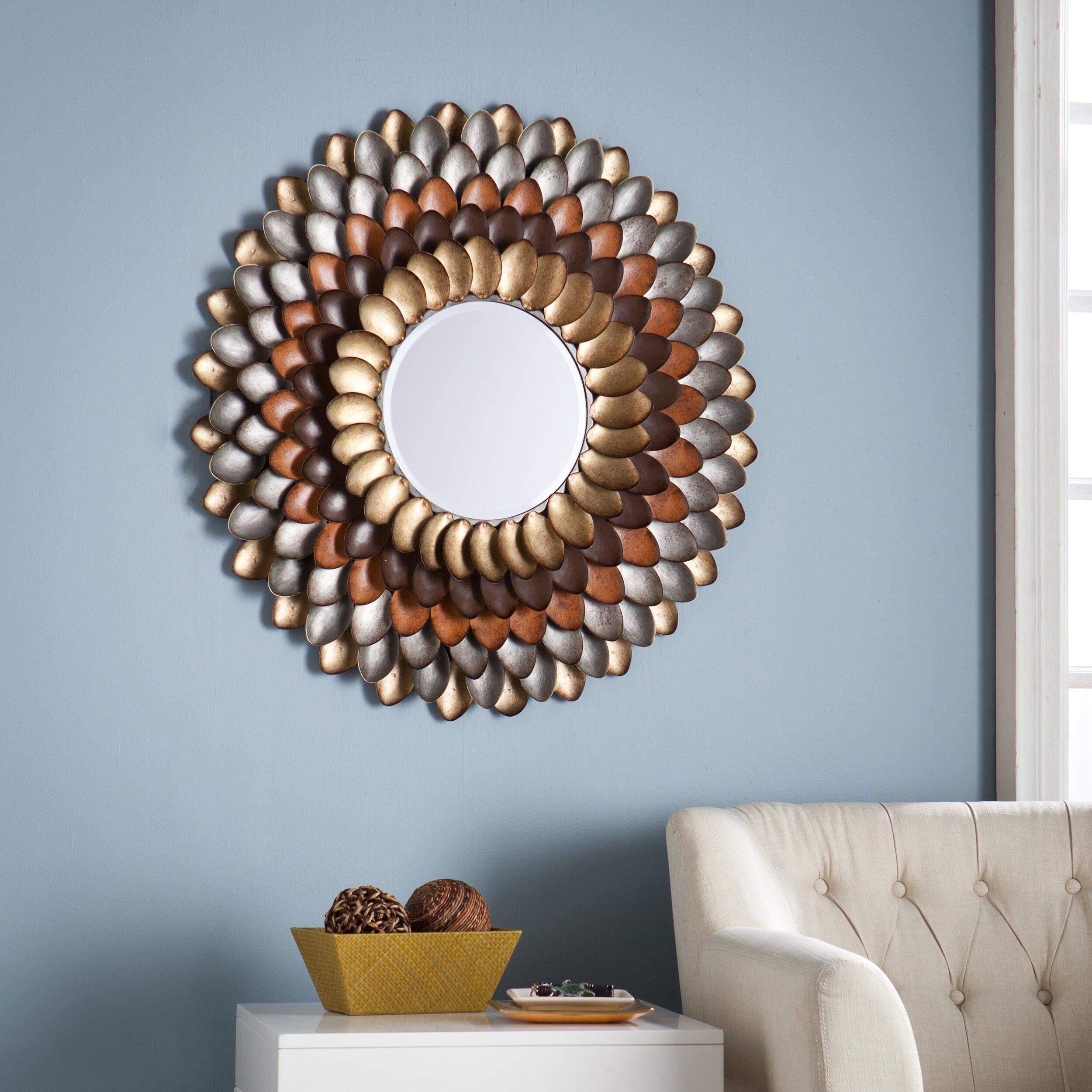 Wildon Home ® Abrams Decorative Round Wall Mirror ...