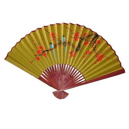 Oriental furniture blossoming tree oriental fan wall d cor reviews wayfair - Wall fans decorative ...