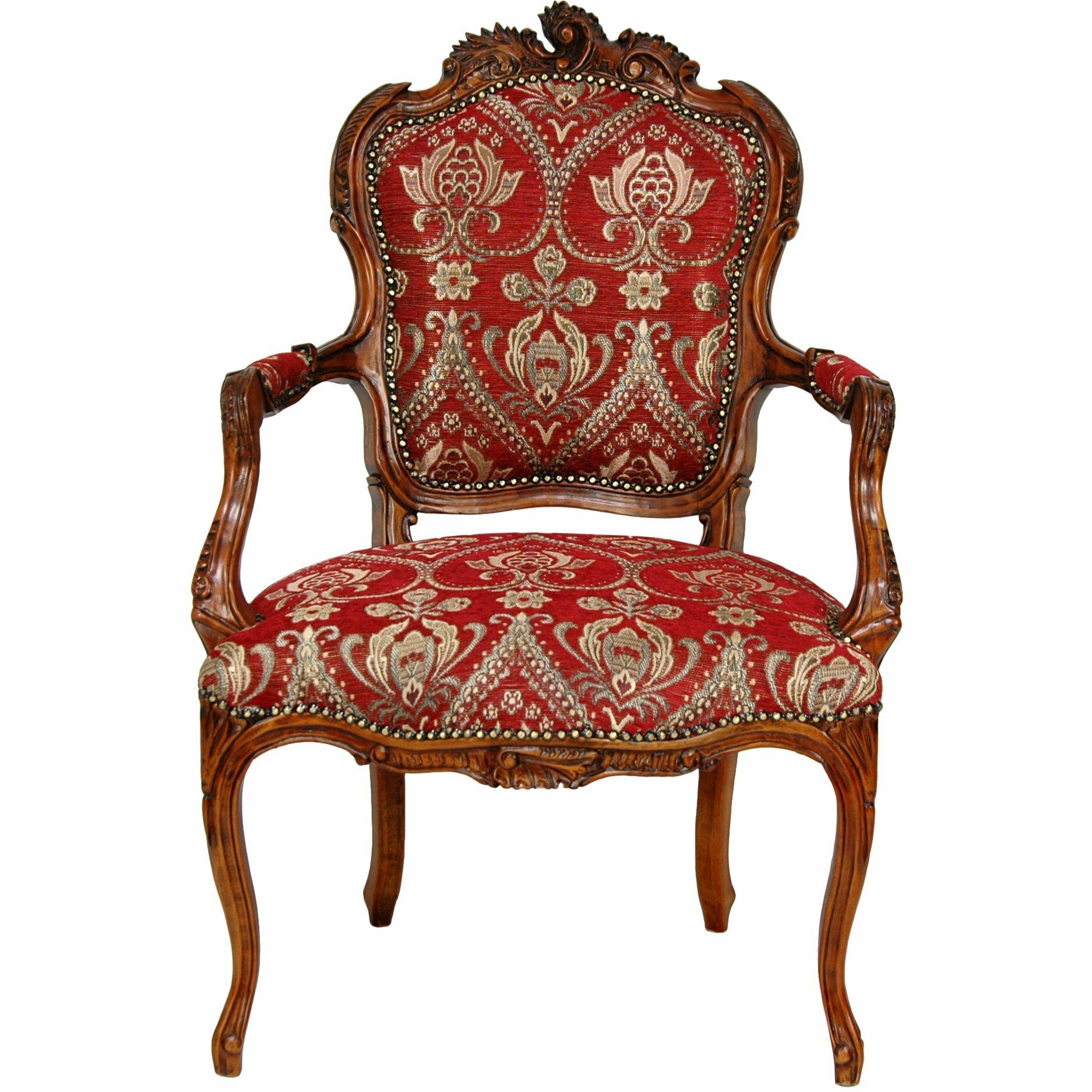 Seating Mini Gravita Armchair In Oriental Garden Fabric: Oriental Furniture Queen Elizabeth Fabric Arm Chair