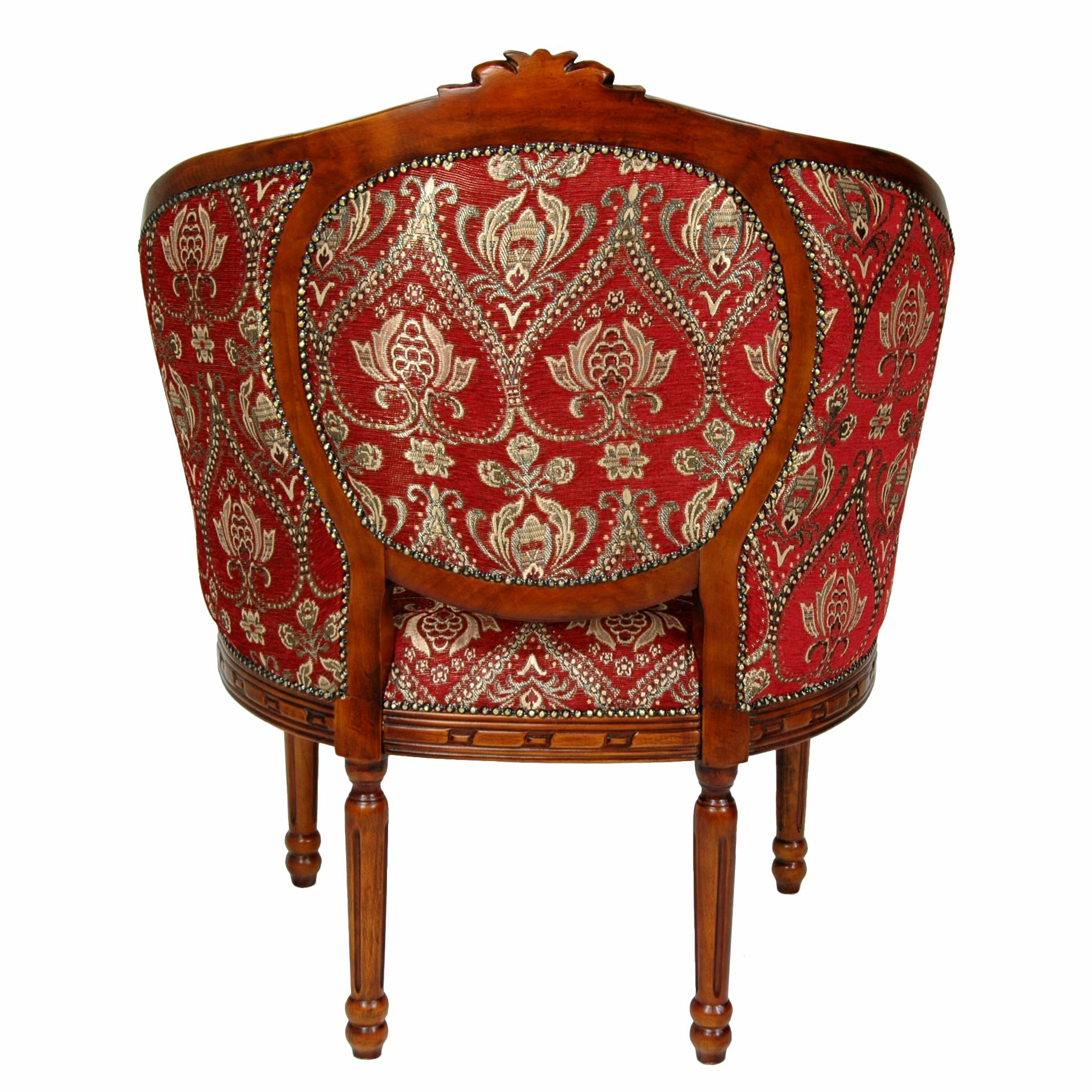 Queen Anne Wing Chair by Oriental Furniture