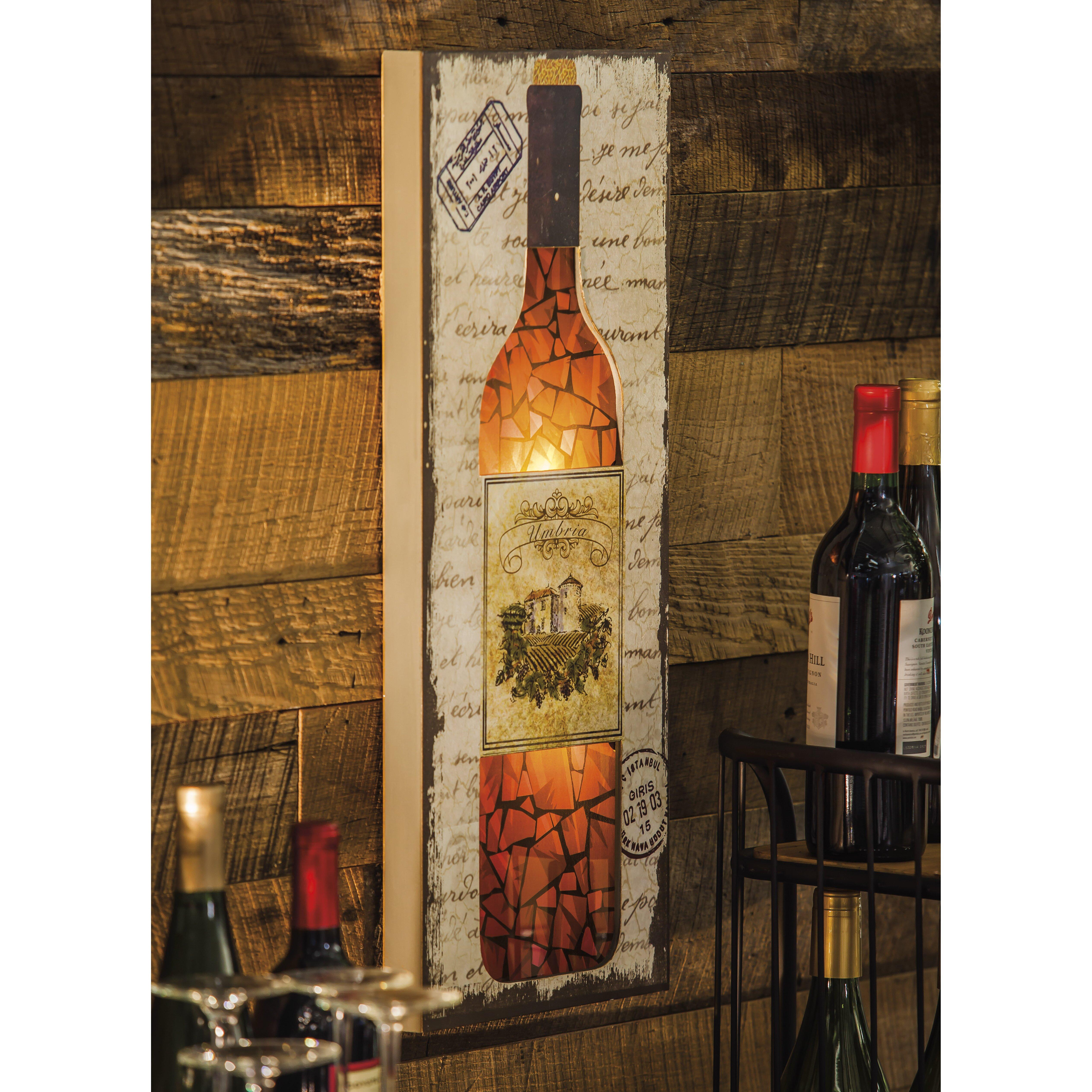 Wine Bottle Home Decor: Evergreen Enterprises, Inc Wine Bottle Wall Décor