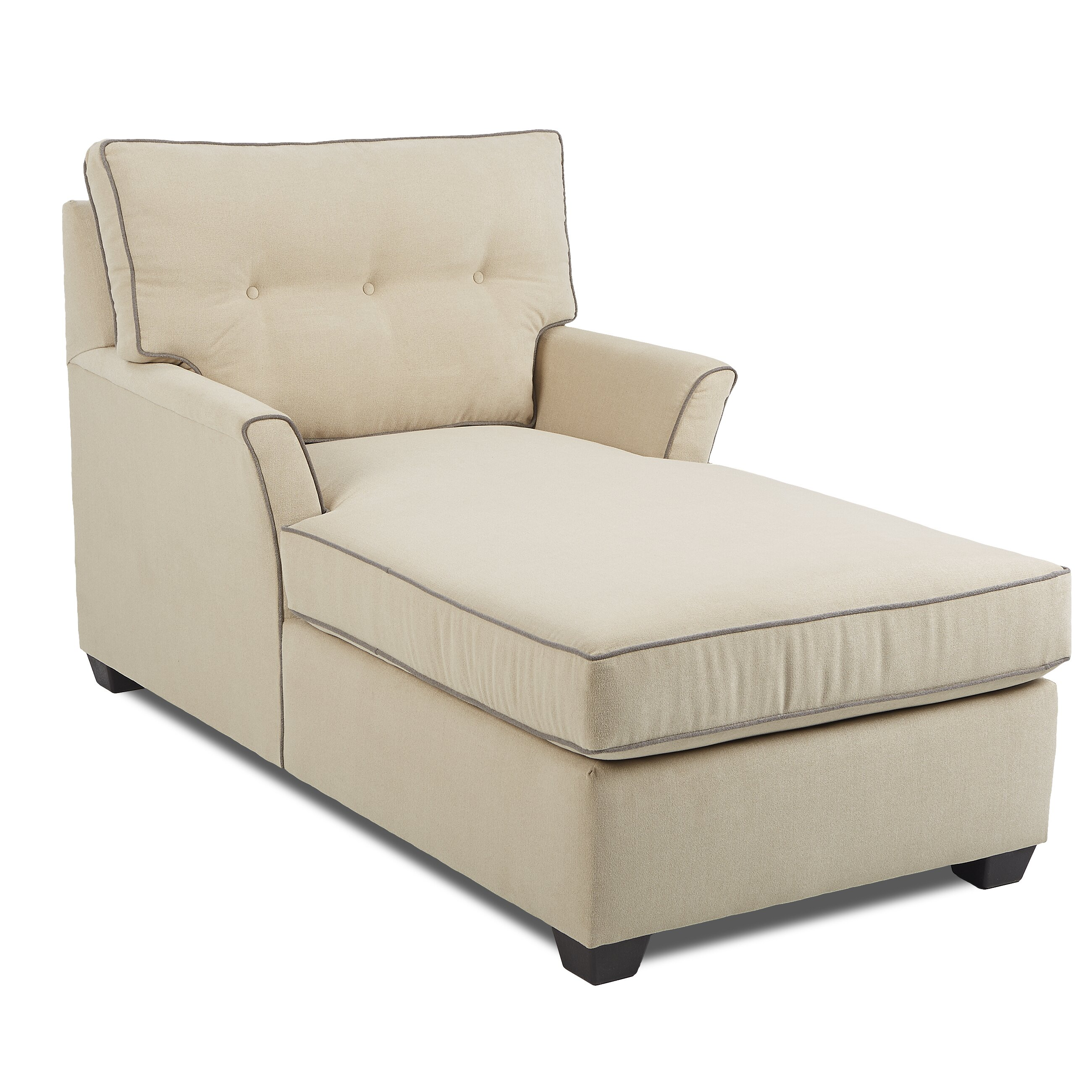 Klaussner furniture lovell chaise lounge reviews wayfair for Chaise and lounge