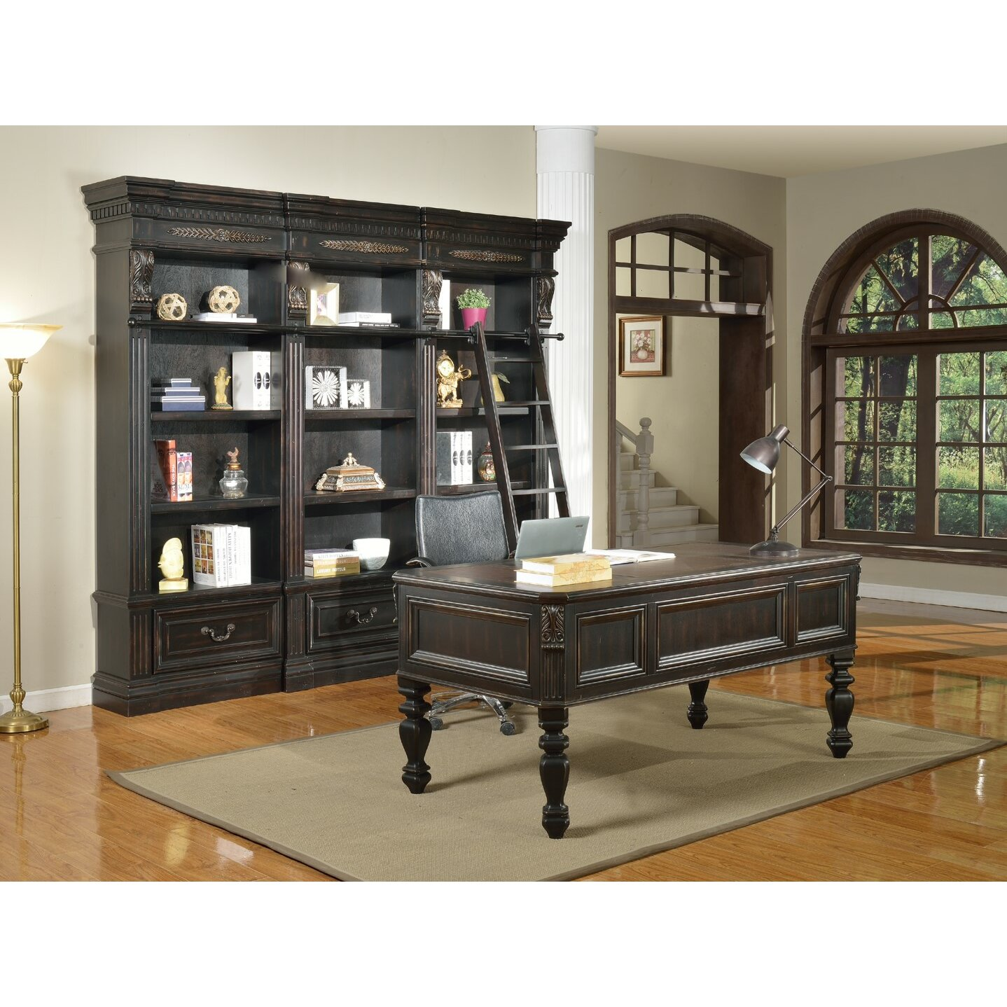 Parker House Grand Manor Palazzo 5 Piece Writing Desk and