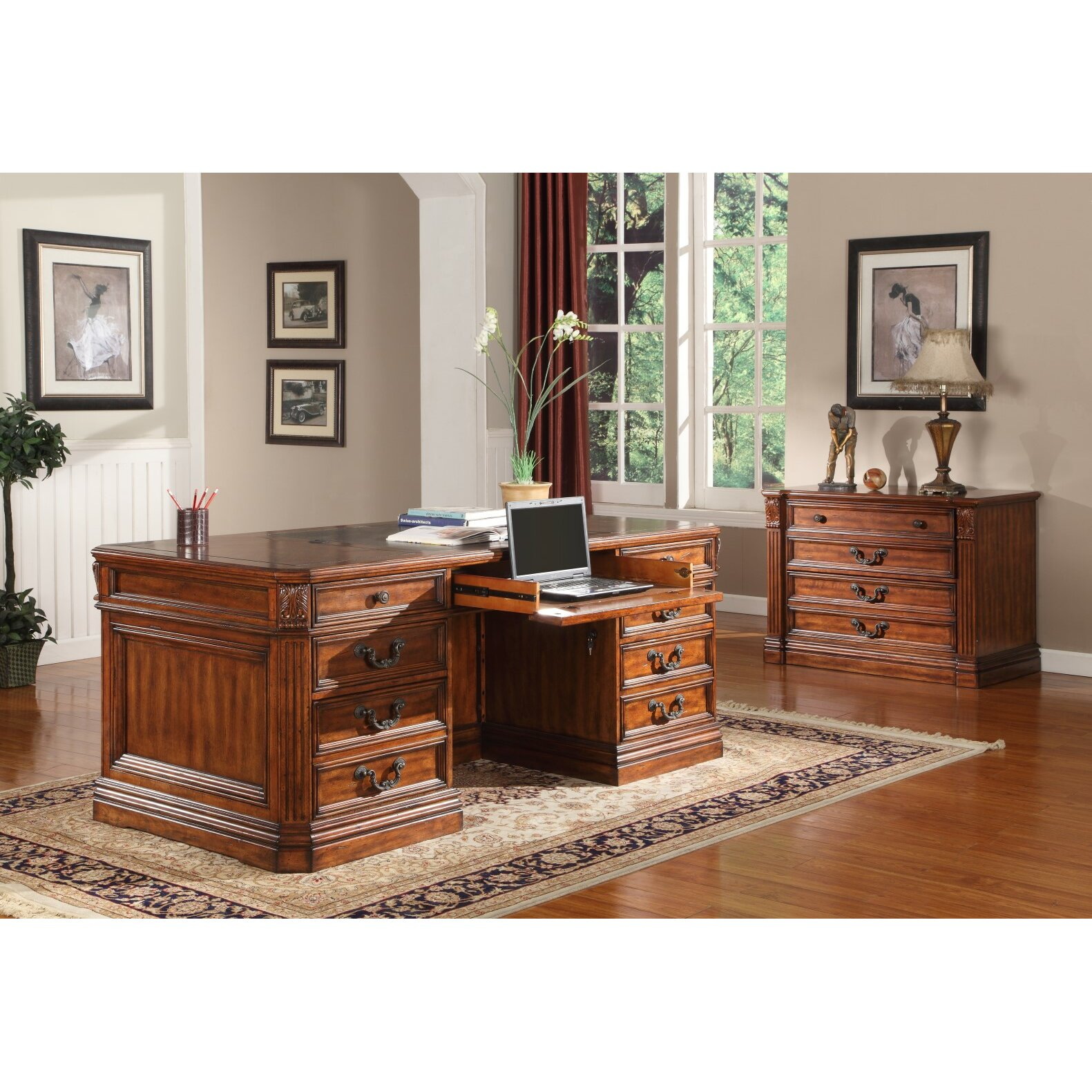 Parker House Grand Manor Granada 4 Drawer Lateral File