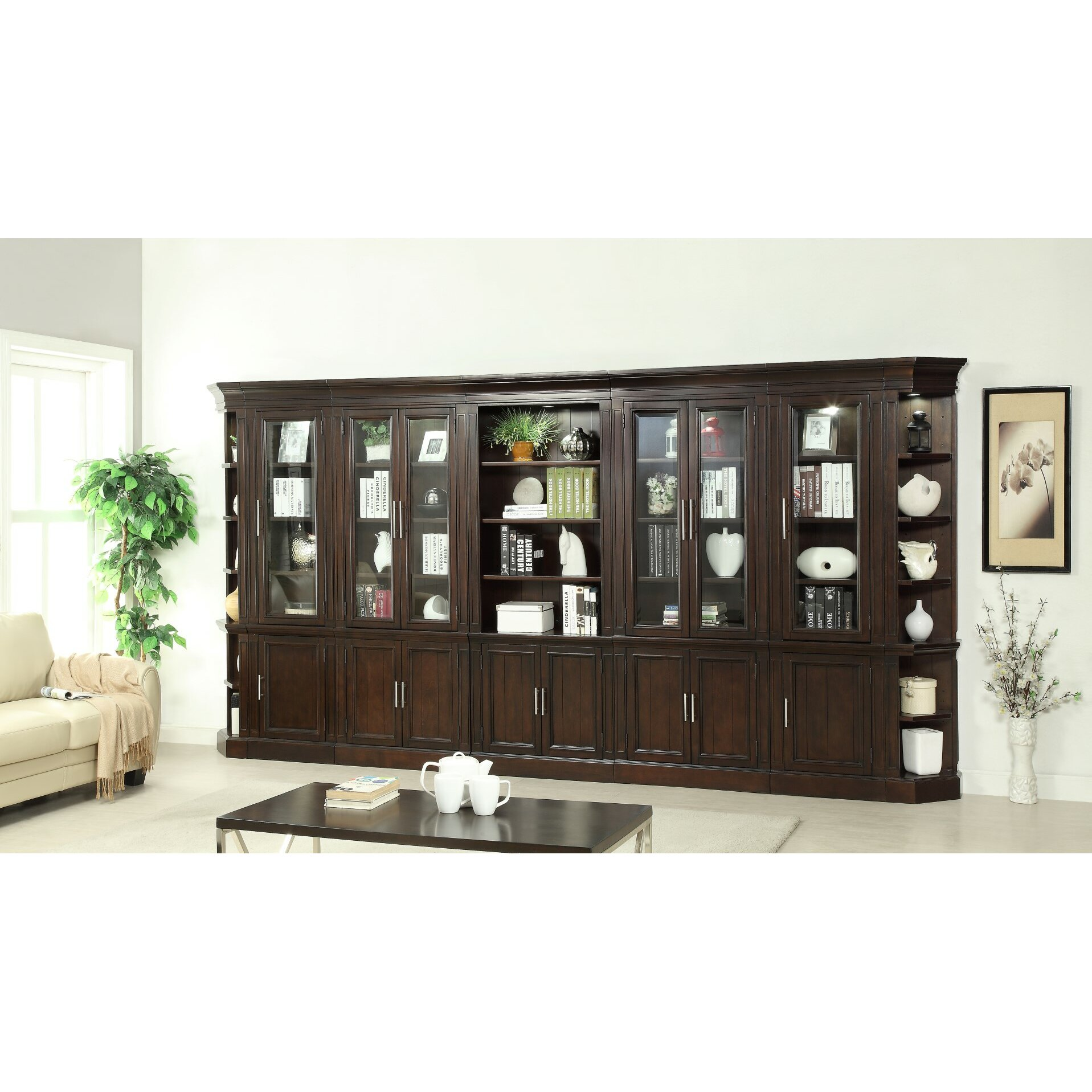 Stanford Bookcase Wall Wayfair