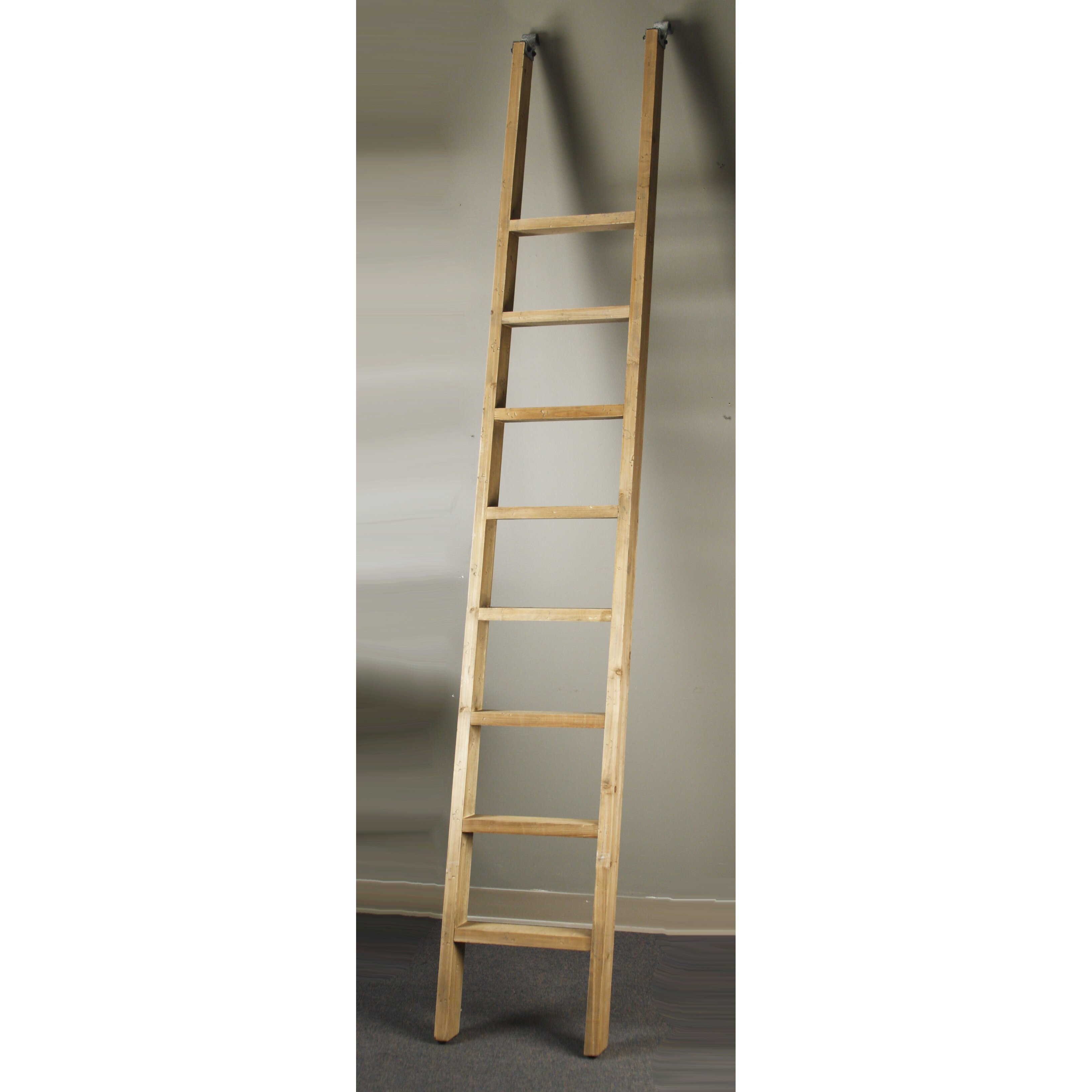 Velma 9 ft Recycled Pine Wood Straight Ladder