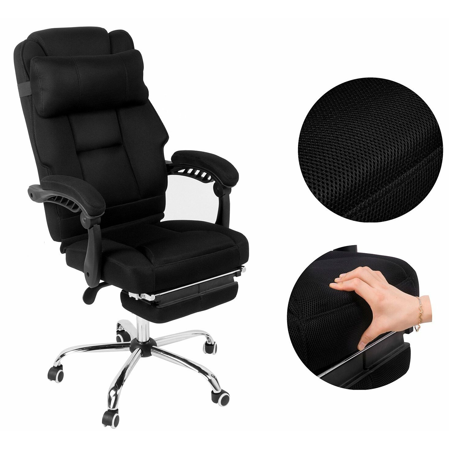 Merax High-Back Mesh Executive Office Chair with Footrest ...